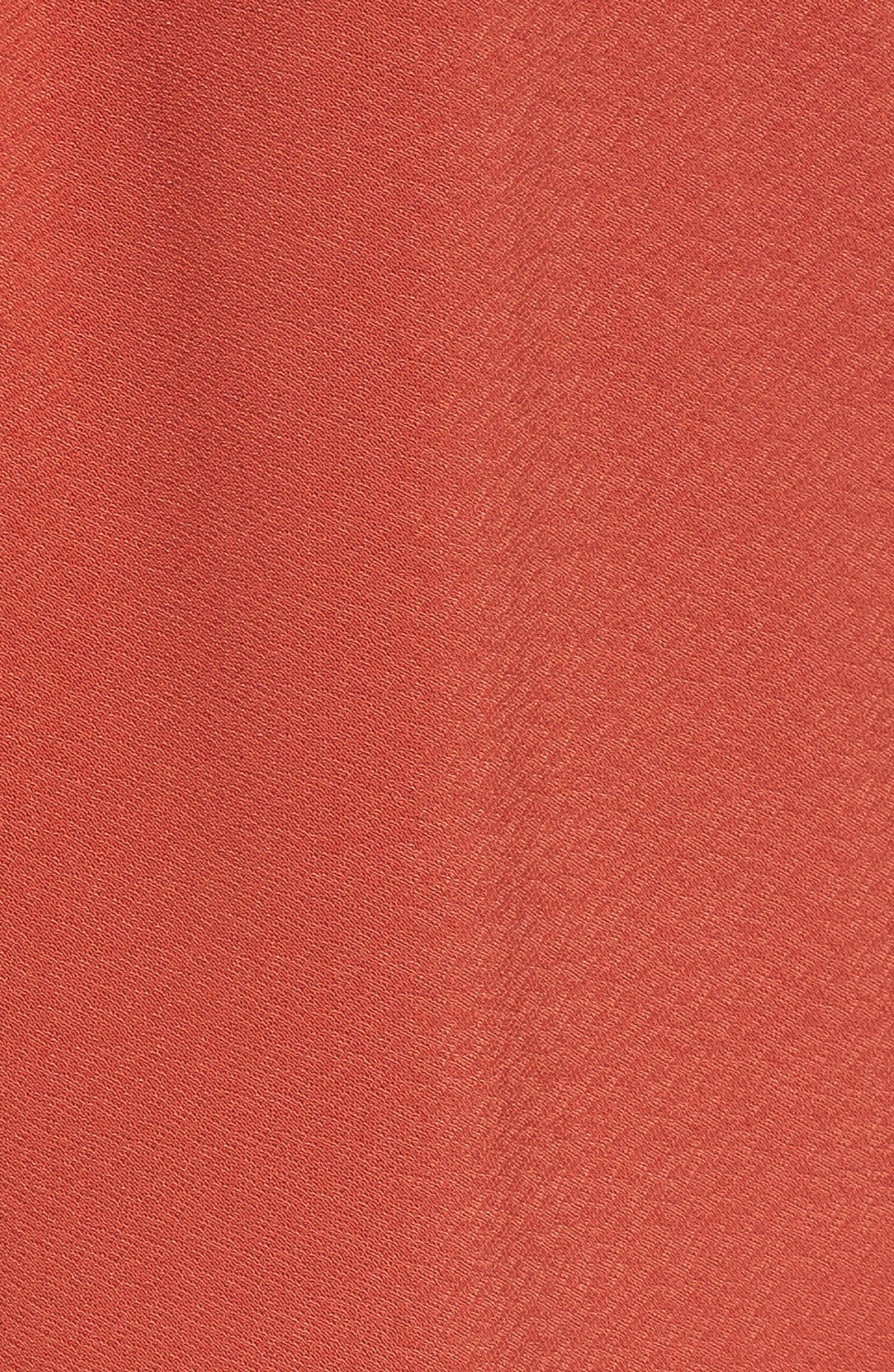 Pleat Front Shorts,                             Alternate thumbnail 5, color,                             Rust Bossa Nova