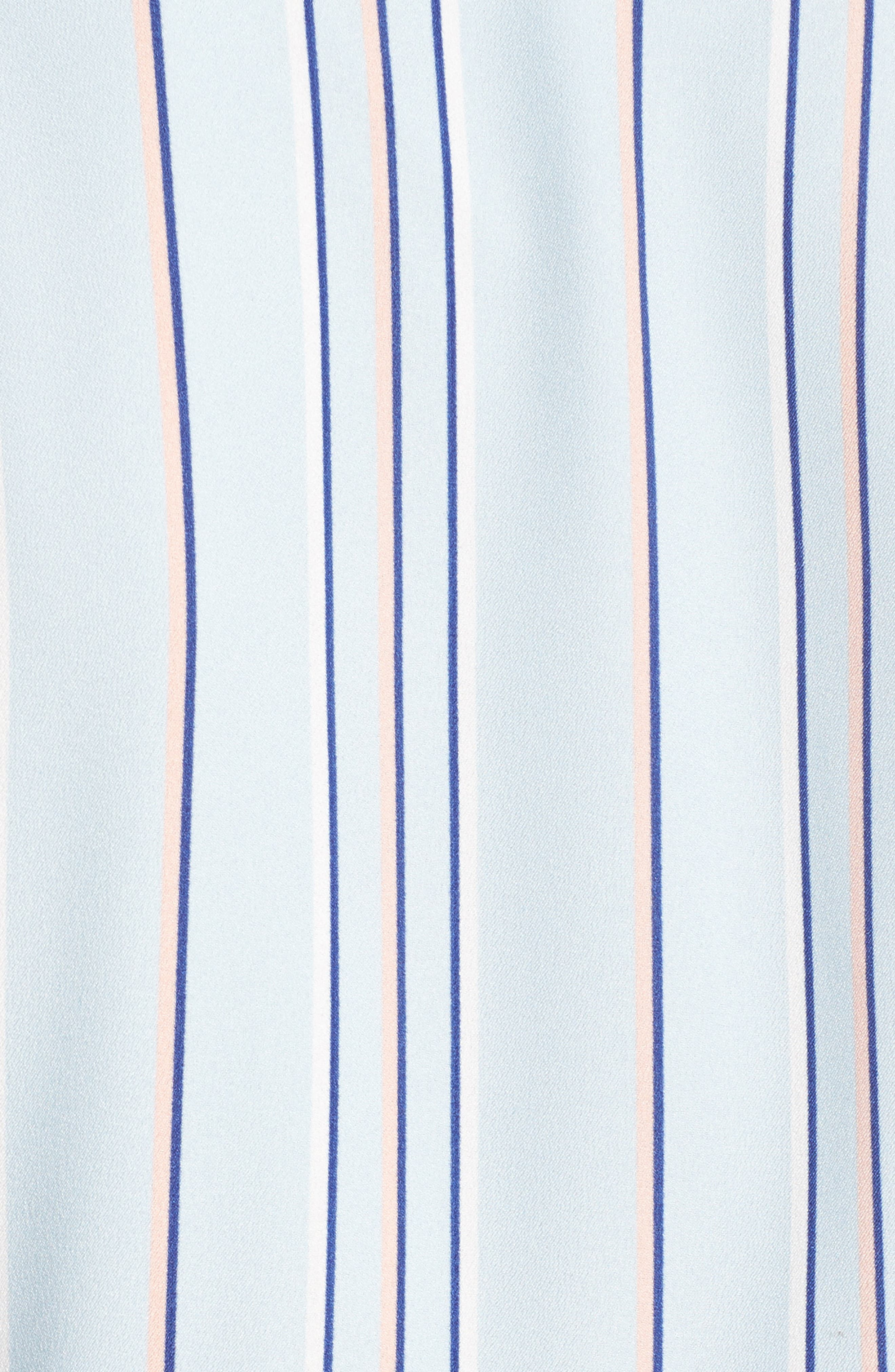 Stripe Shirtdress,                             Alternate thumbnail 5, color,                             Powder Blue Multi