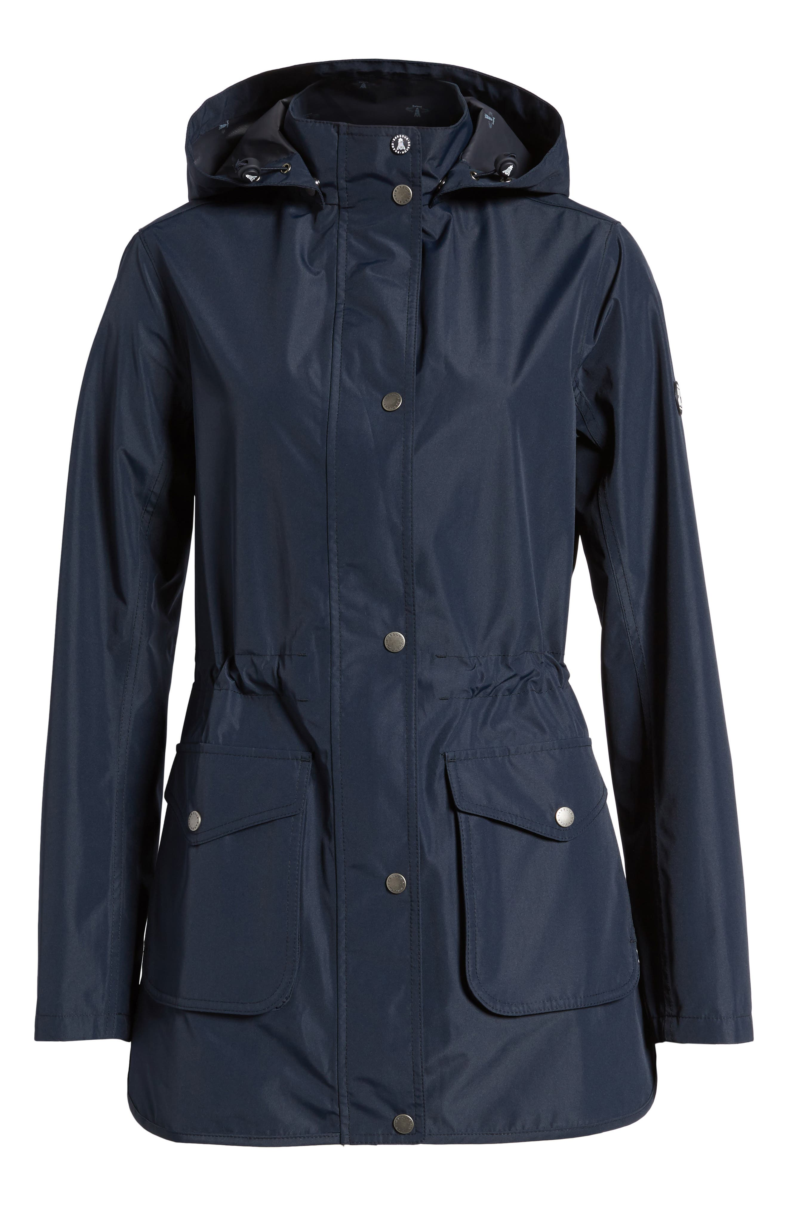 Studland Waterproof Jacket,                             Alternate thumbnail 6, color,                             Navy