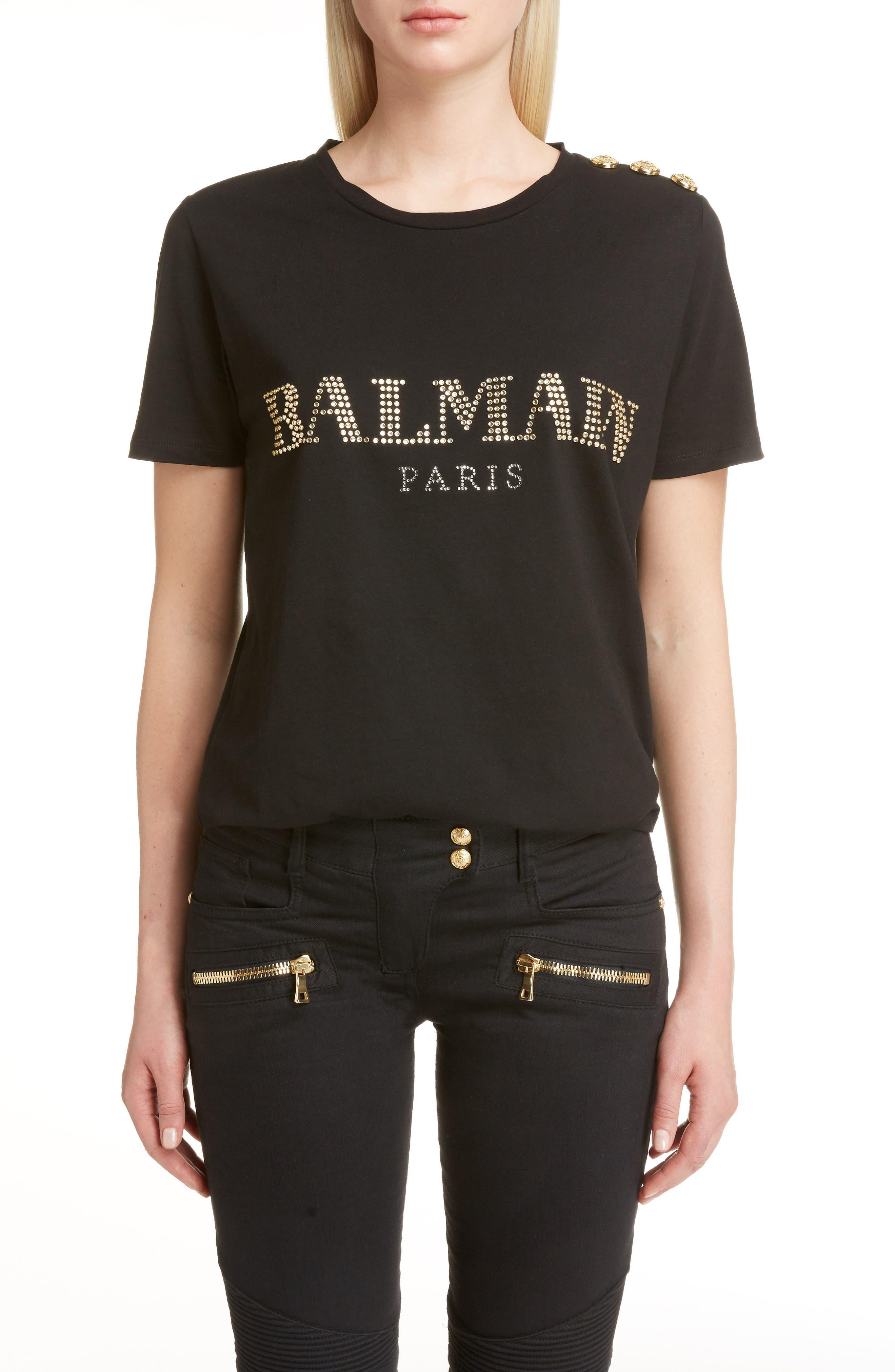 Balmain Studded Logo Tee