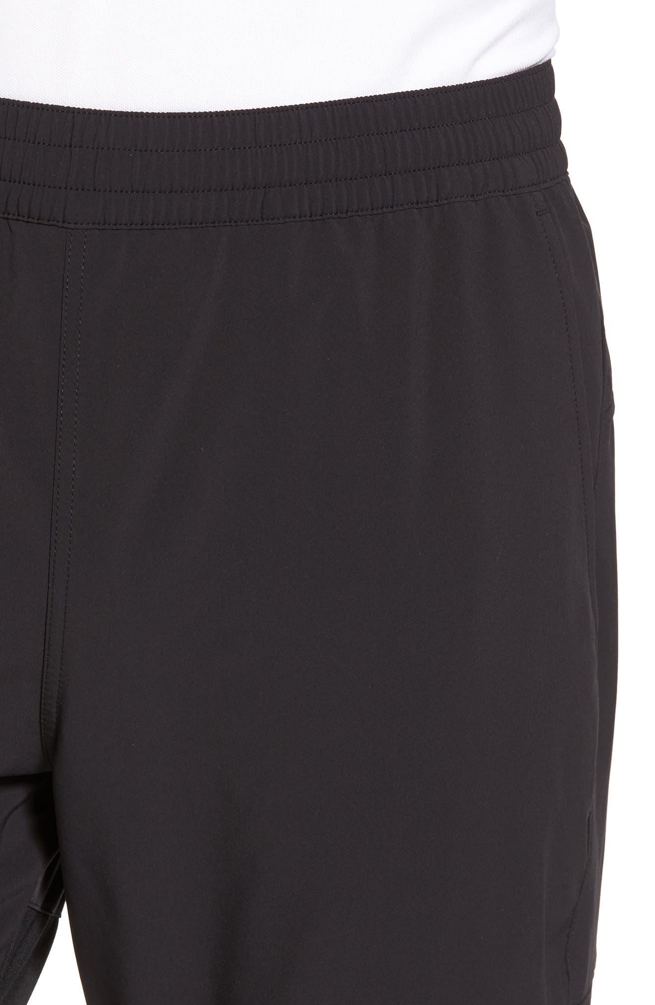 Graphite Tapered Athletic Pants,                             Alternate thumbnail 4, color,                             Black