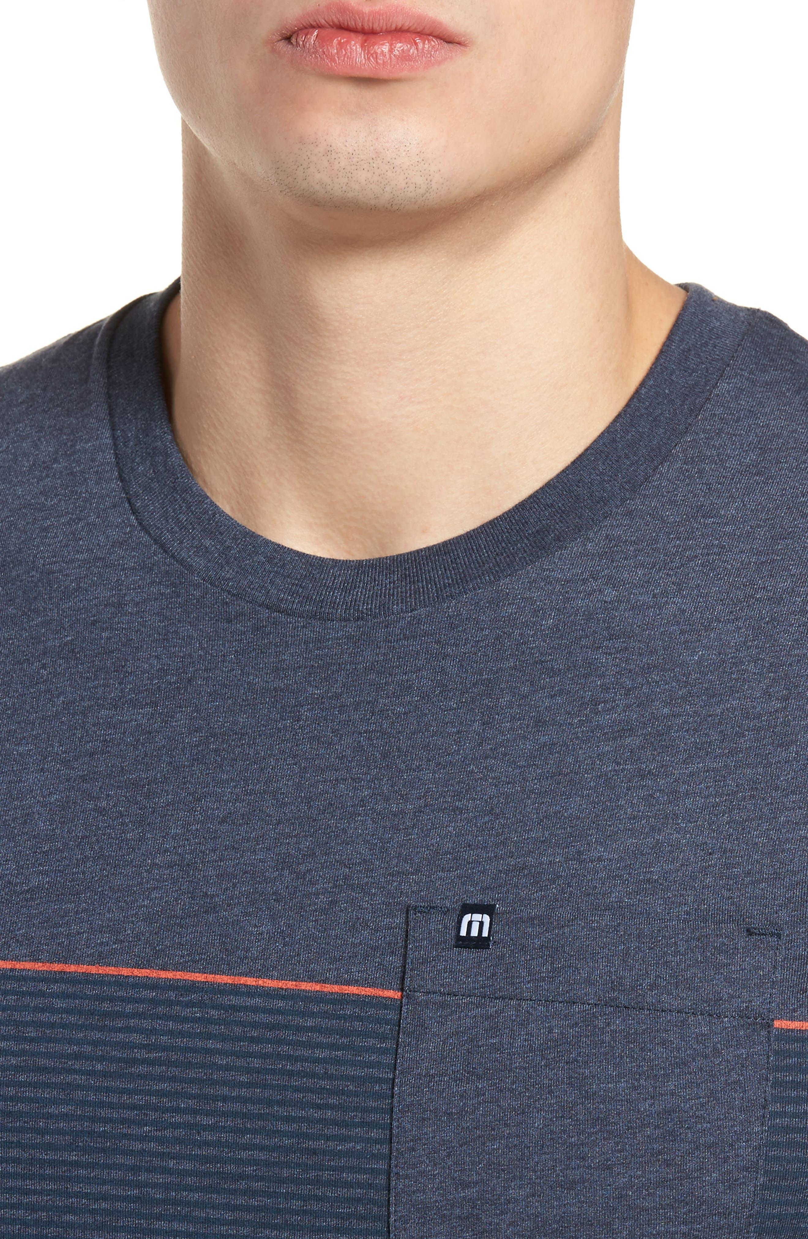 Jeramie Stripe Pocket T-Shirt,                             Alternate thumbnail 4, color,                             Blue Nights/ Dusk Blue