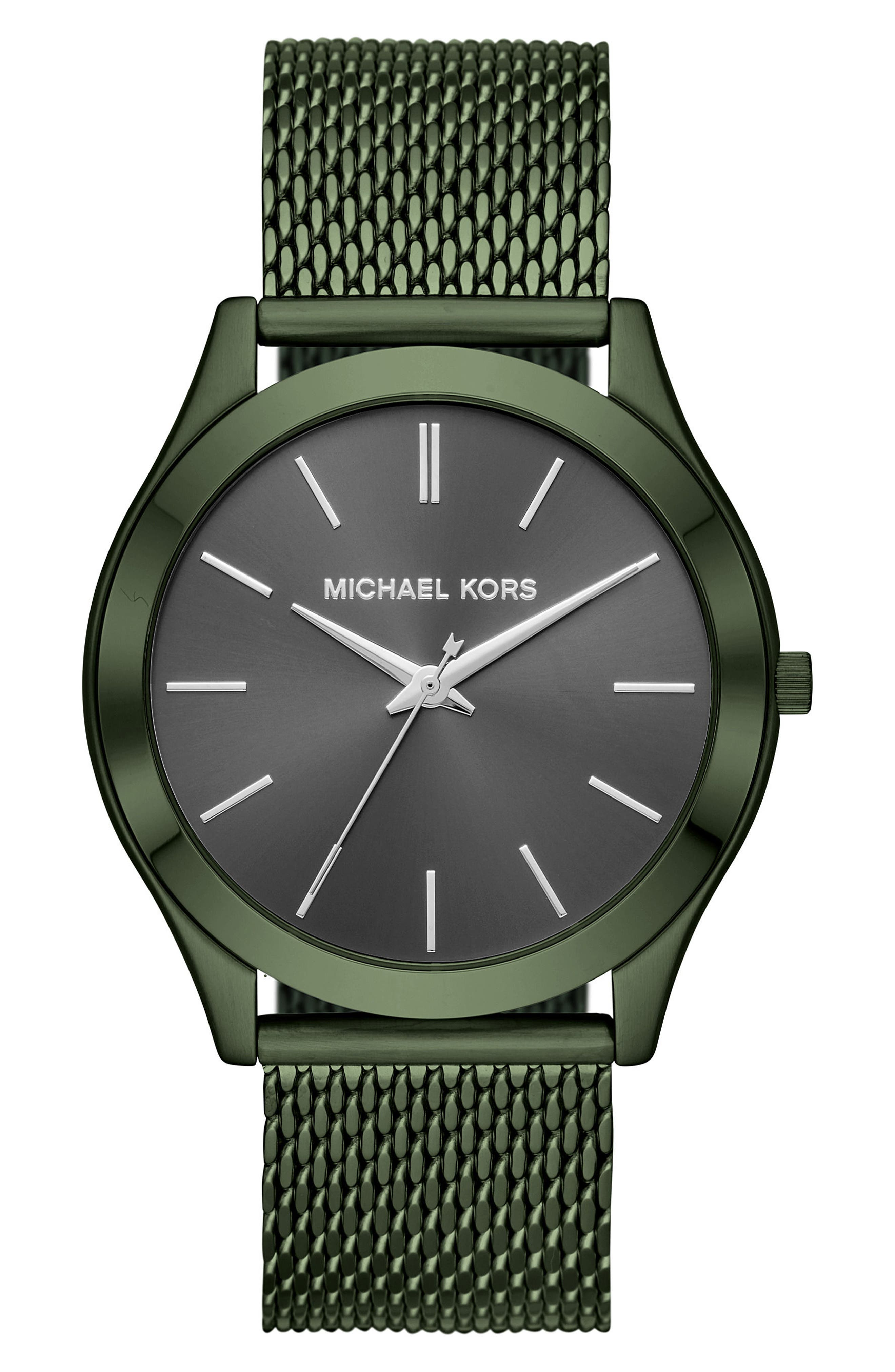 Michael Kors Slim Runway Mesh Strap Watch, 44mm