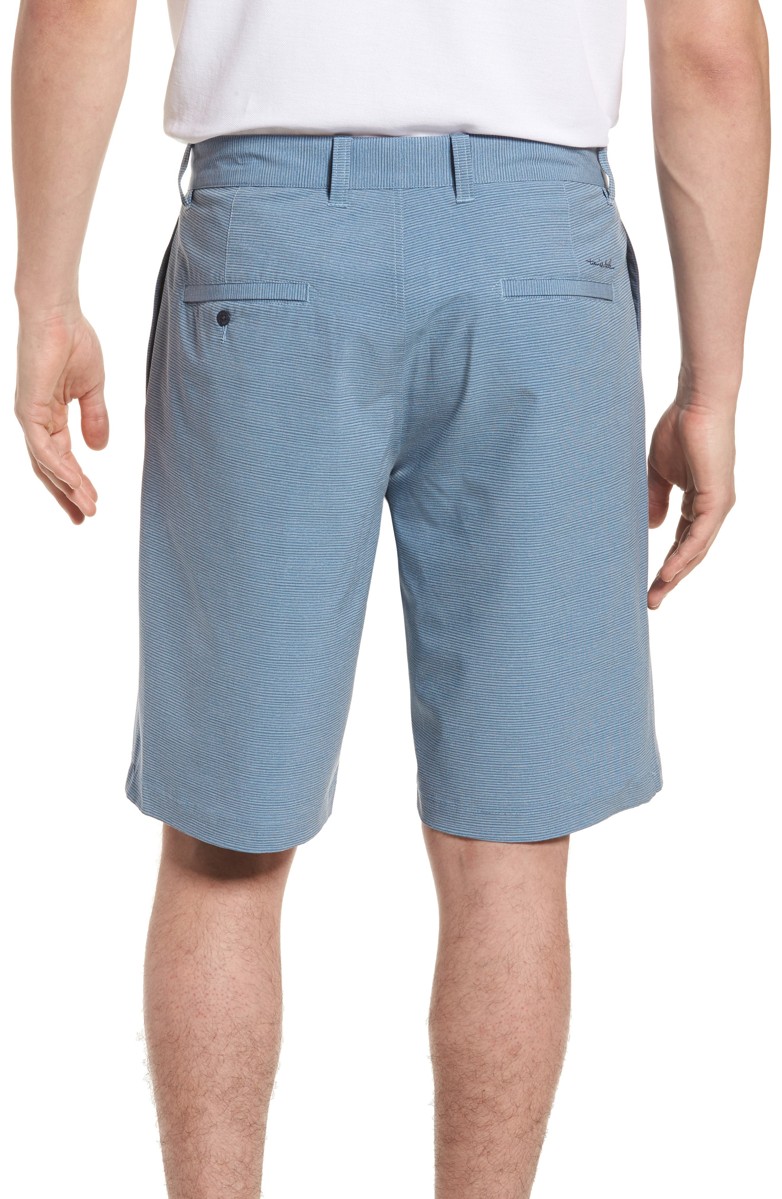 Toro Regular Fit Microstripe Shorts,                             Alternate thumbnail 2, color,                             French Blue/ Micro Chip
