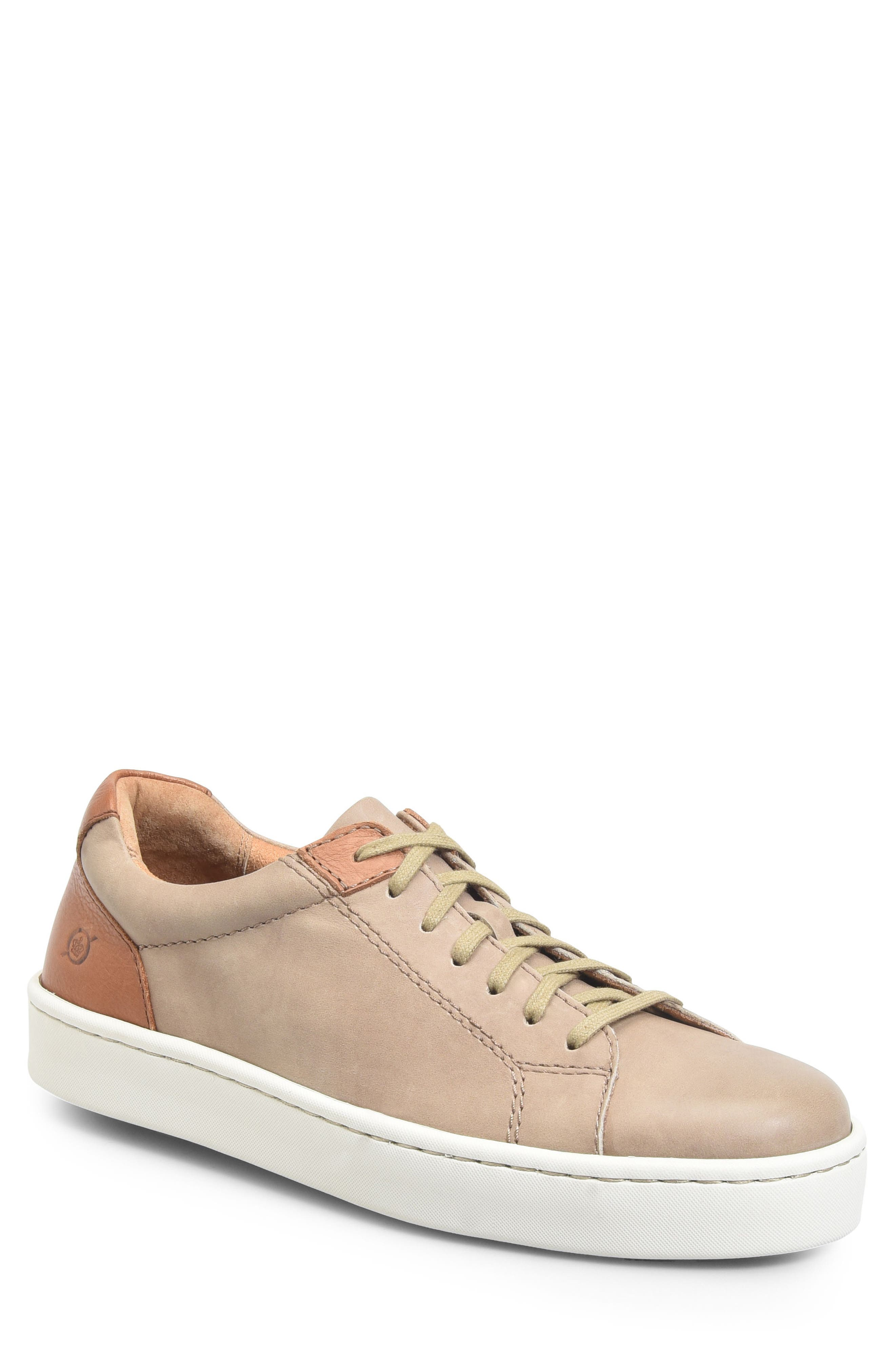 Jib Sneaker,                             Main thumbnail 1, color,                             Taupe/ Brown Leather