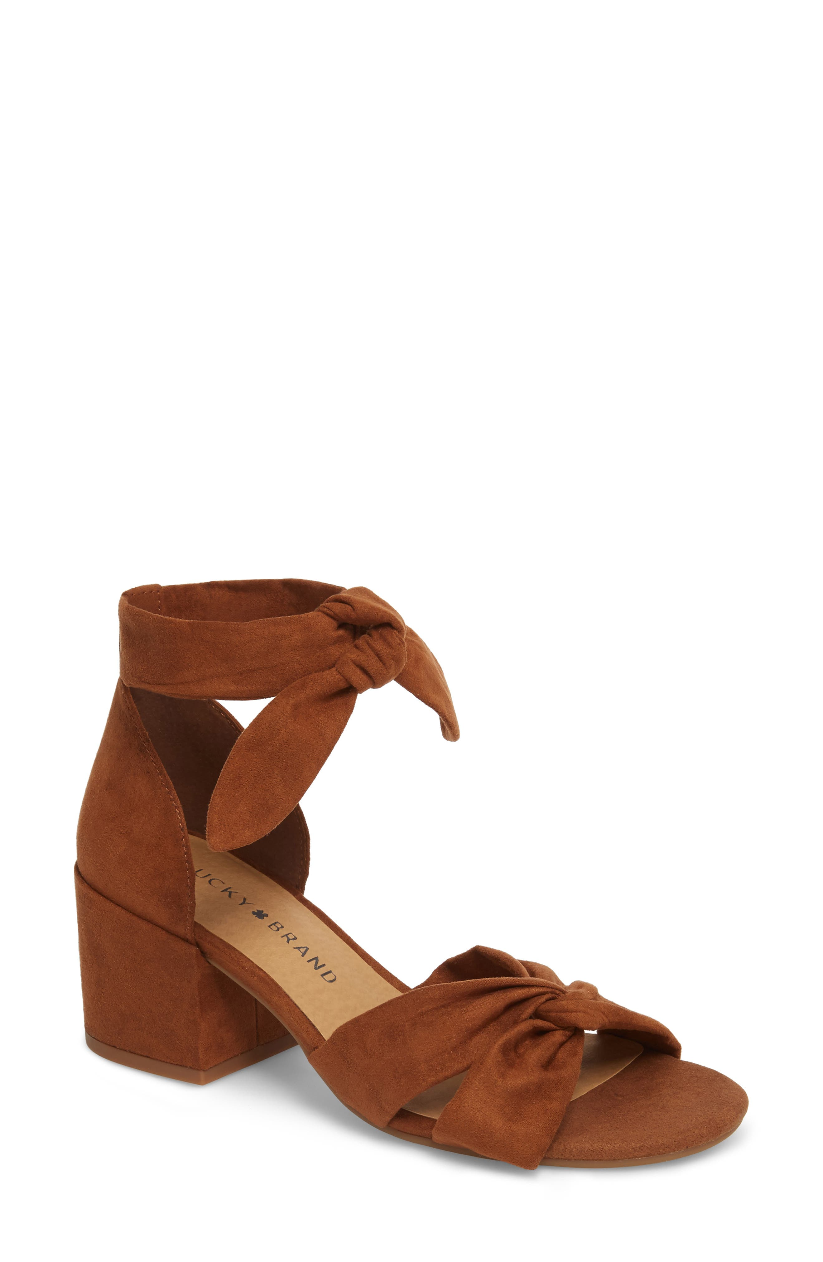 Xaylah Ankle Strap Sandal,                         Main,                         color, Cedar Leather