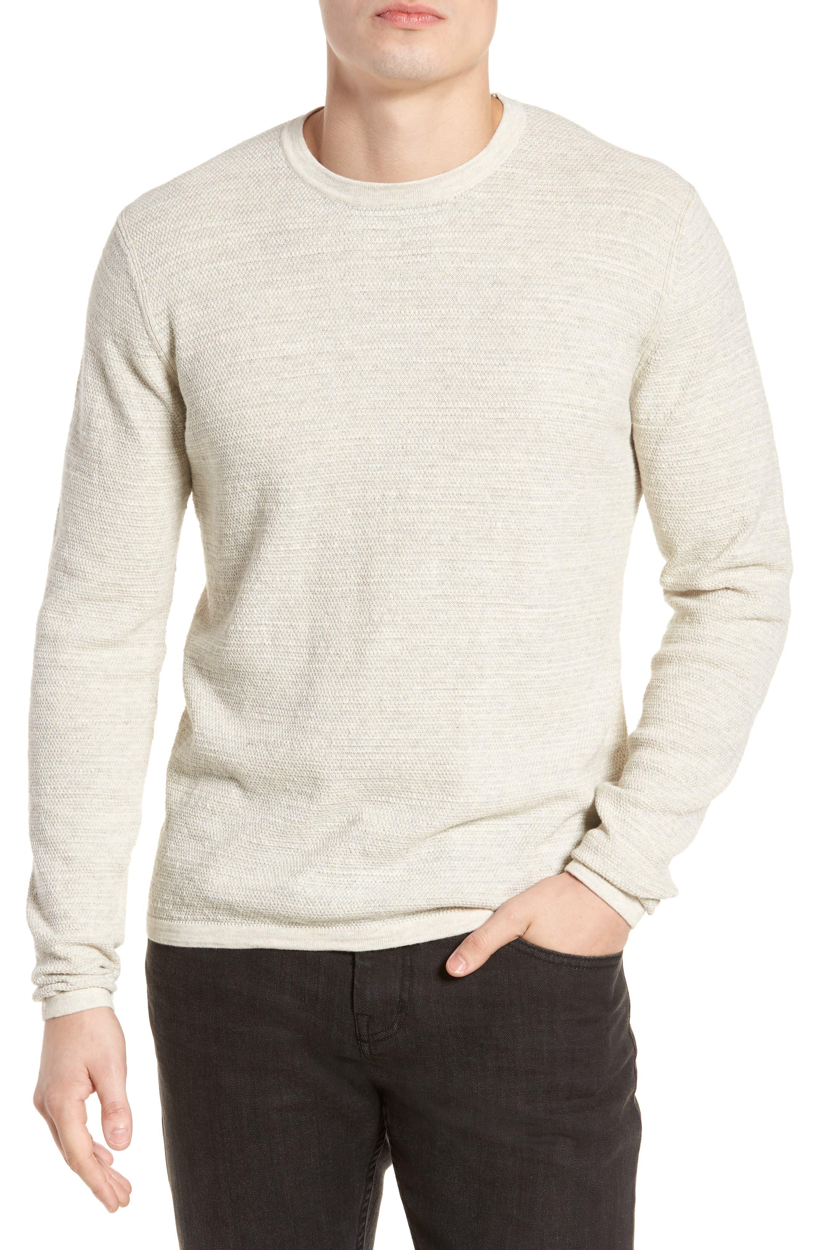 Slub Thermal Knit Sweater,                             Main thumbnail 1, color,                             Cream Heather