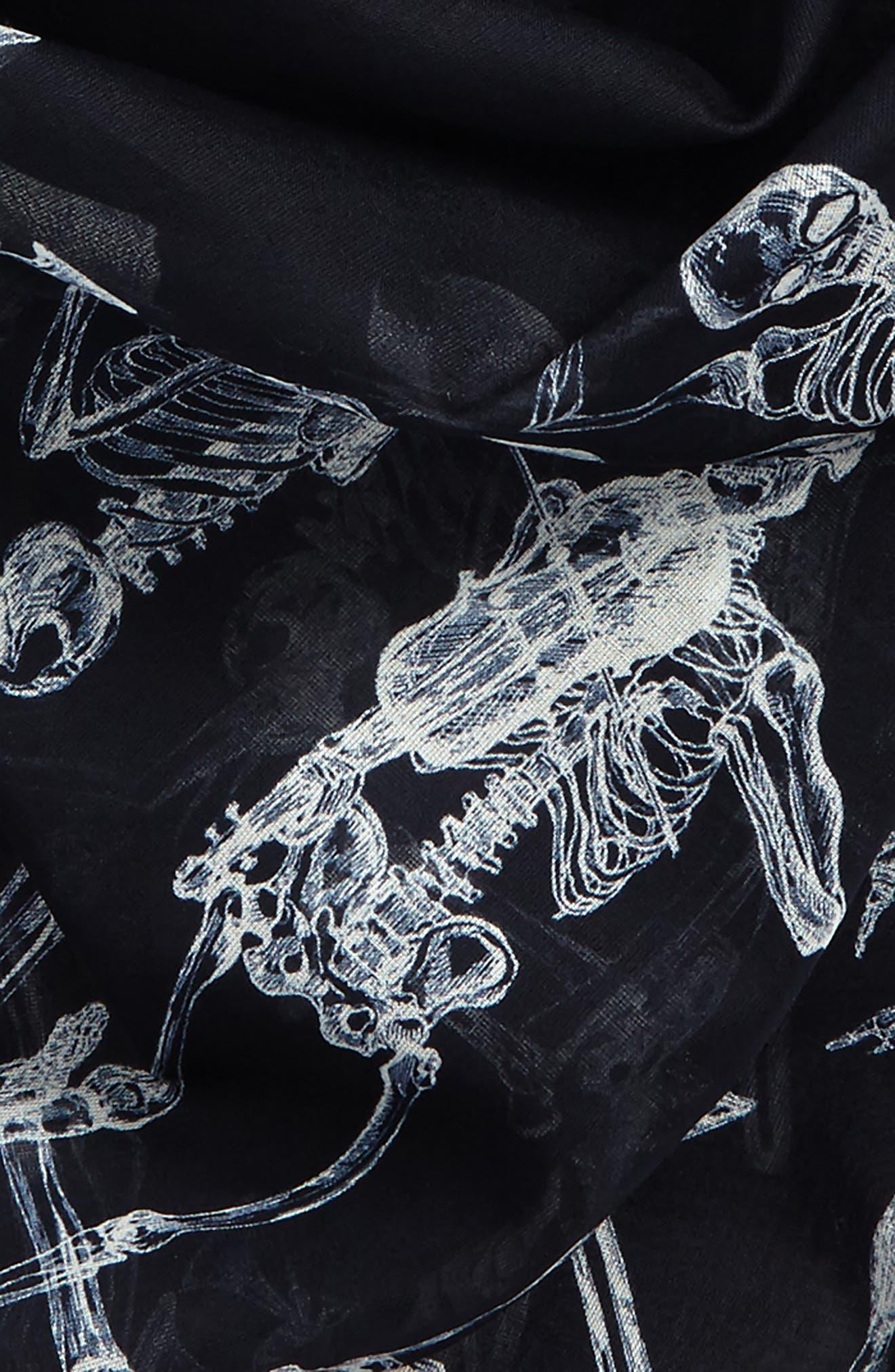 Dancing Skeleton,                             Alternate thumbnail 3, color,                             Navy/ Ivory