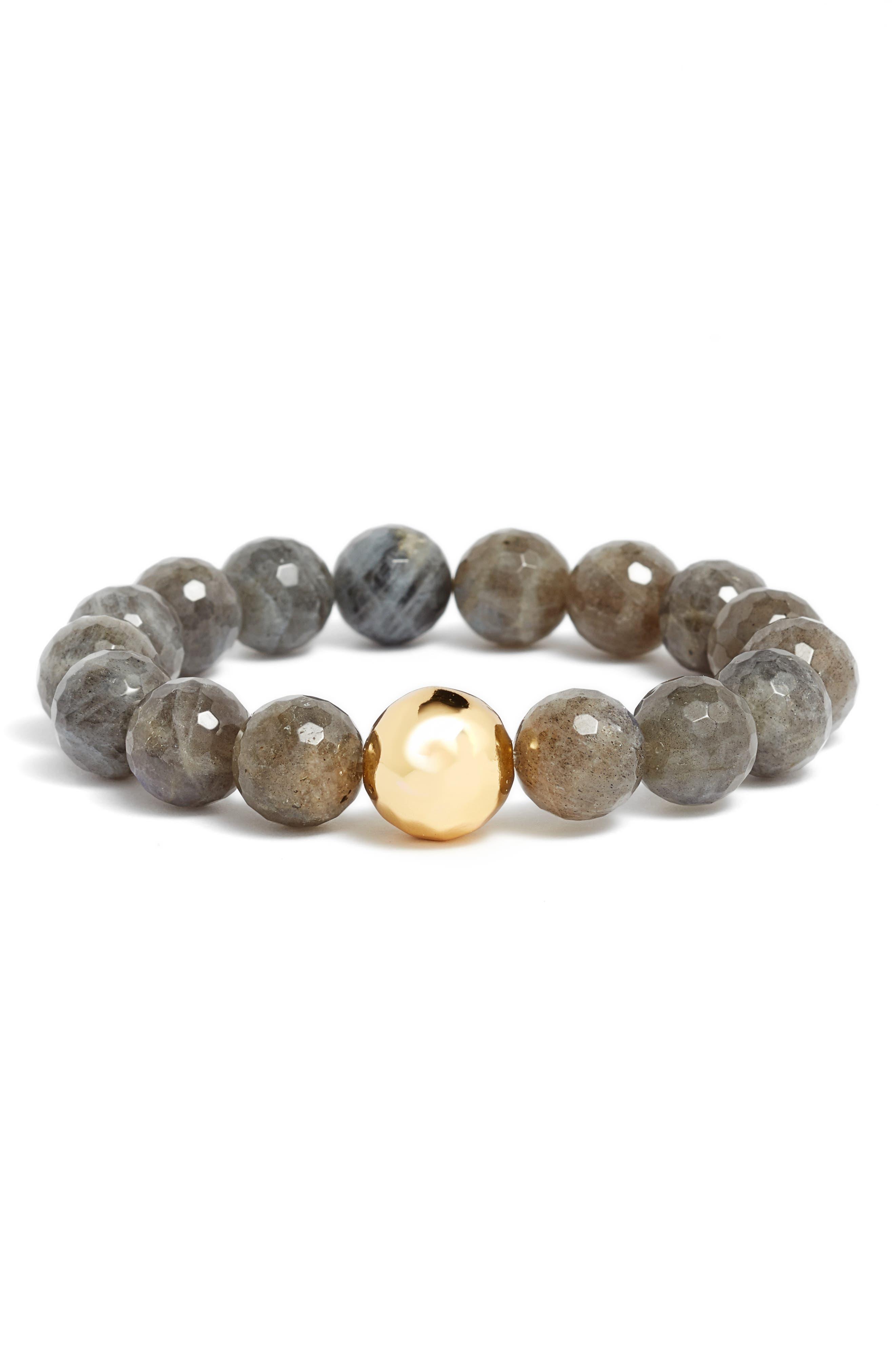 Balance Bead Bracelet,                         Main,                         color, Labradorite/ Gold