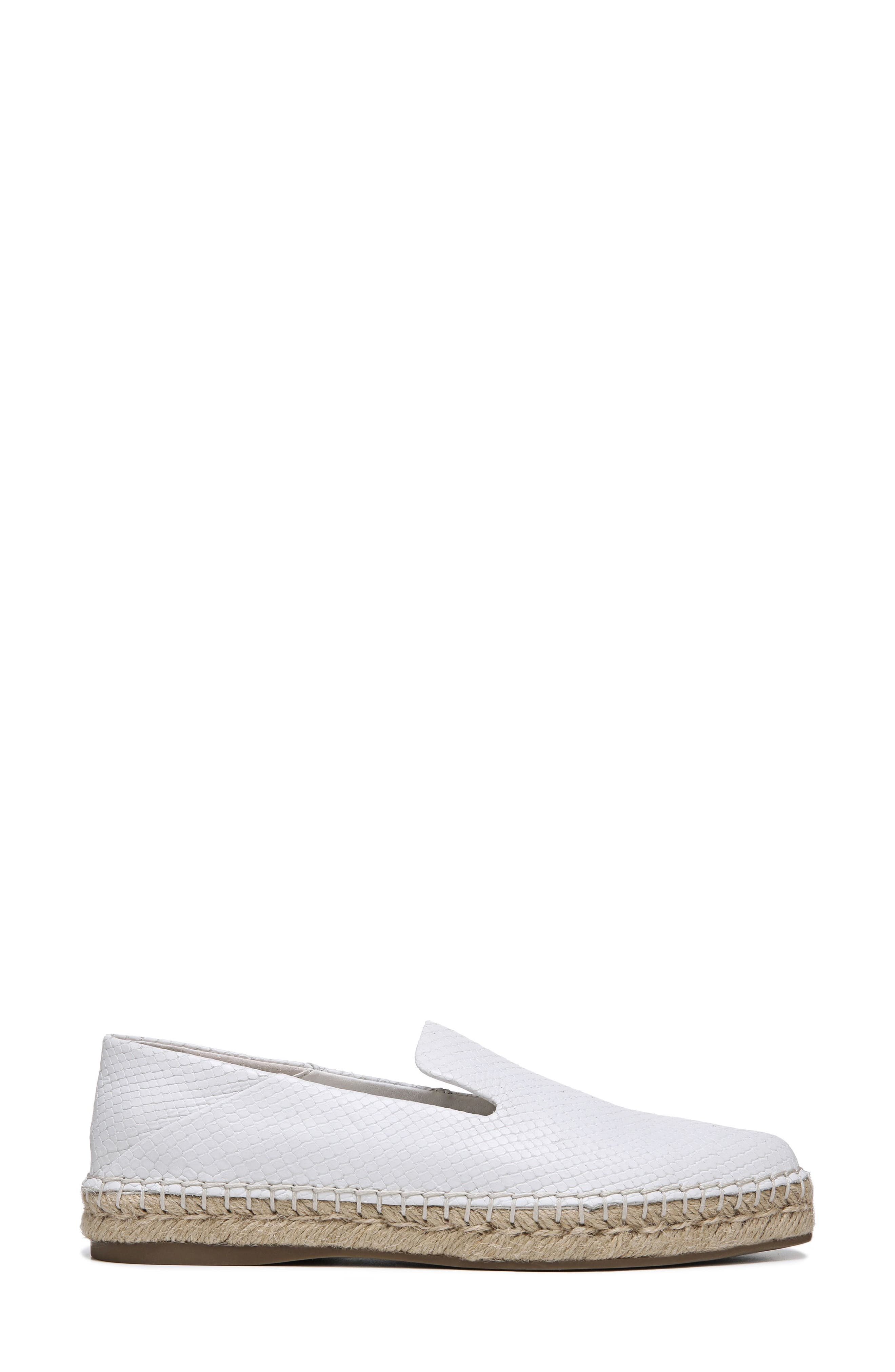 Eviana Espadrille Loafer,                             Alternate thumbnail 3, color,                             Blanca Snake Print Leather