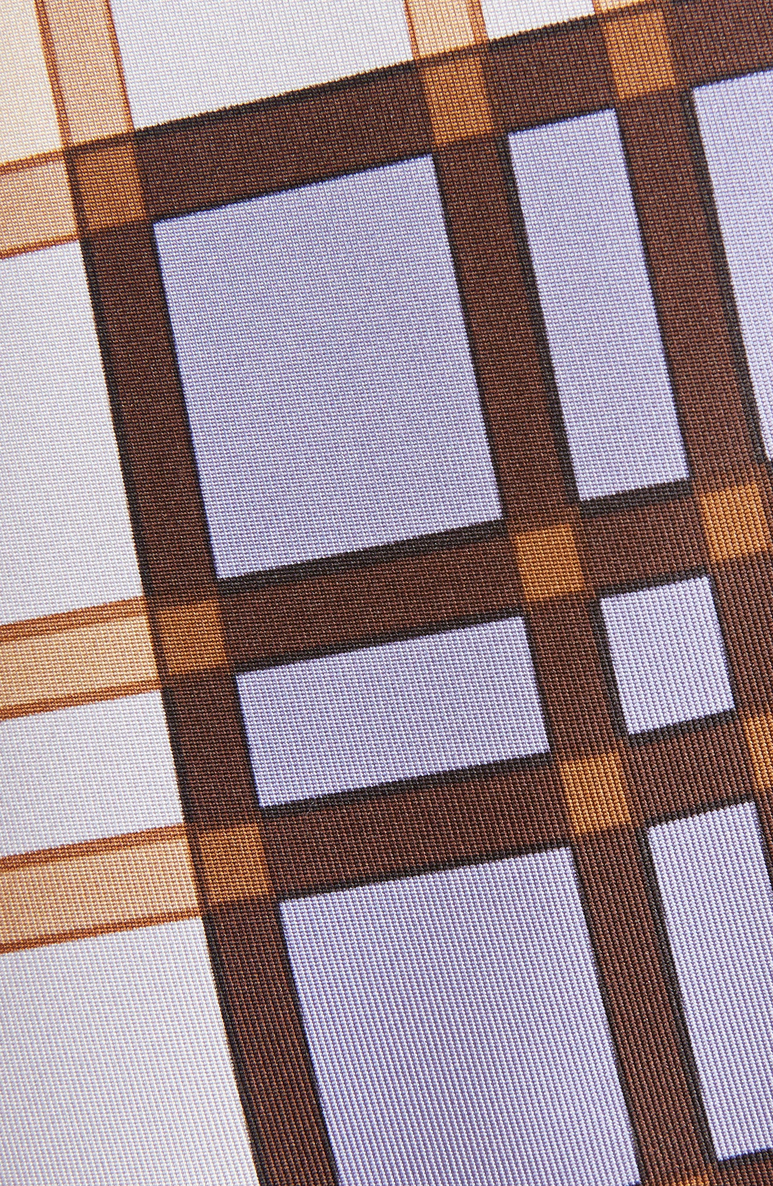 Scarf Print Crystal Strap Silk Top,                             Alternate thumbnail 6, color,                             Lilac
