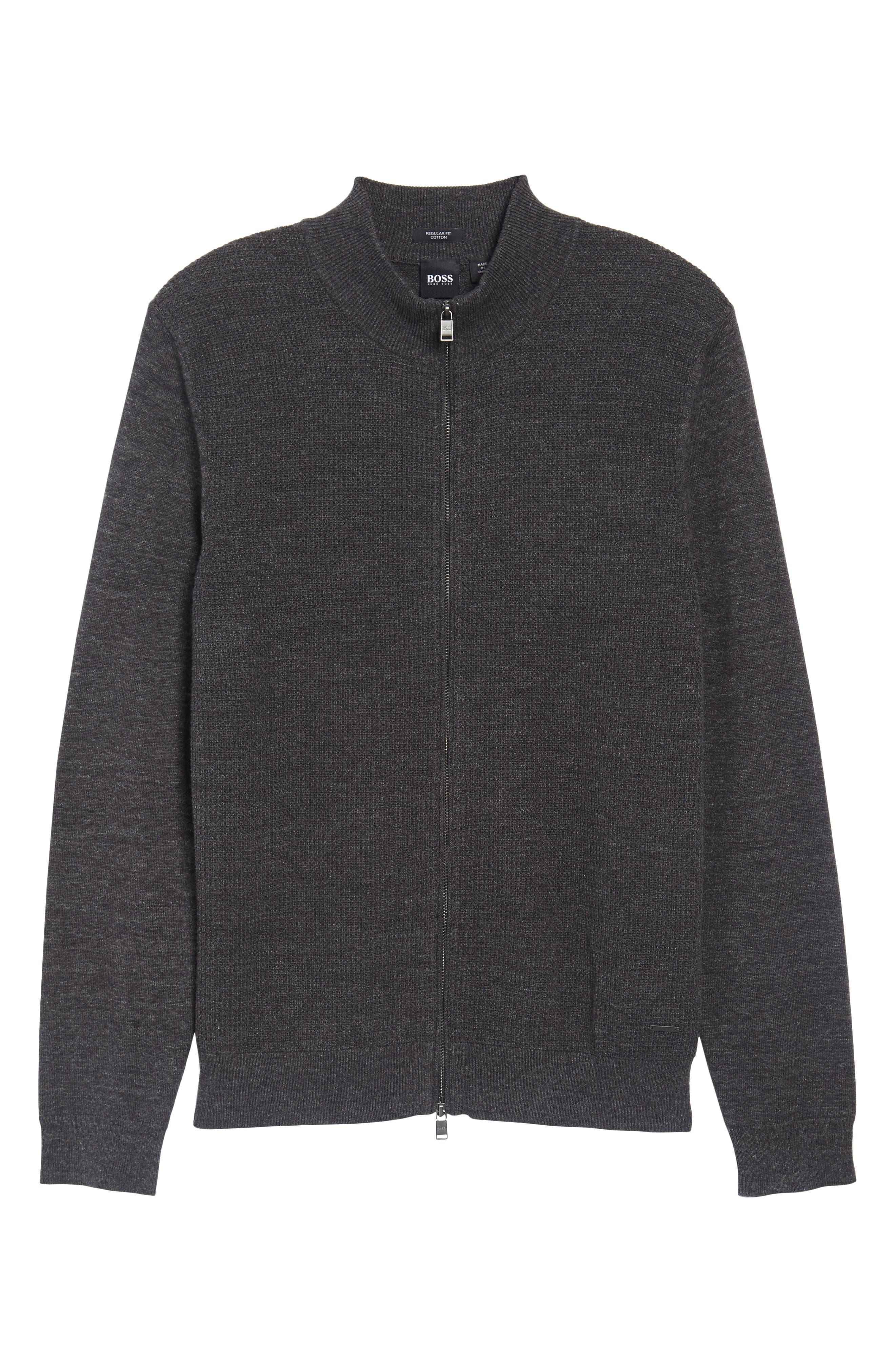 Devino Cotton Zip Jacket,                             Alternate thumbnail 6, color,                             Grey