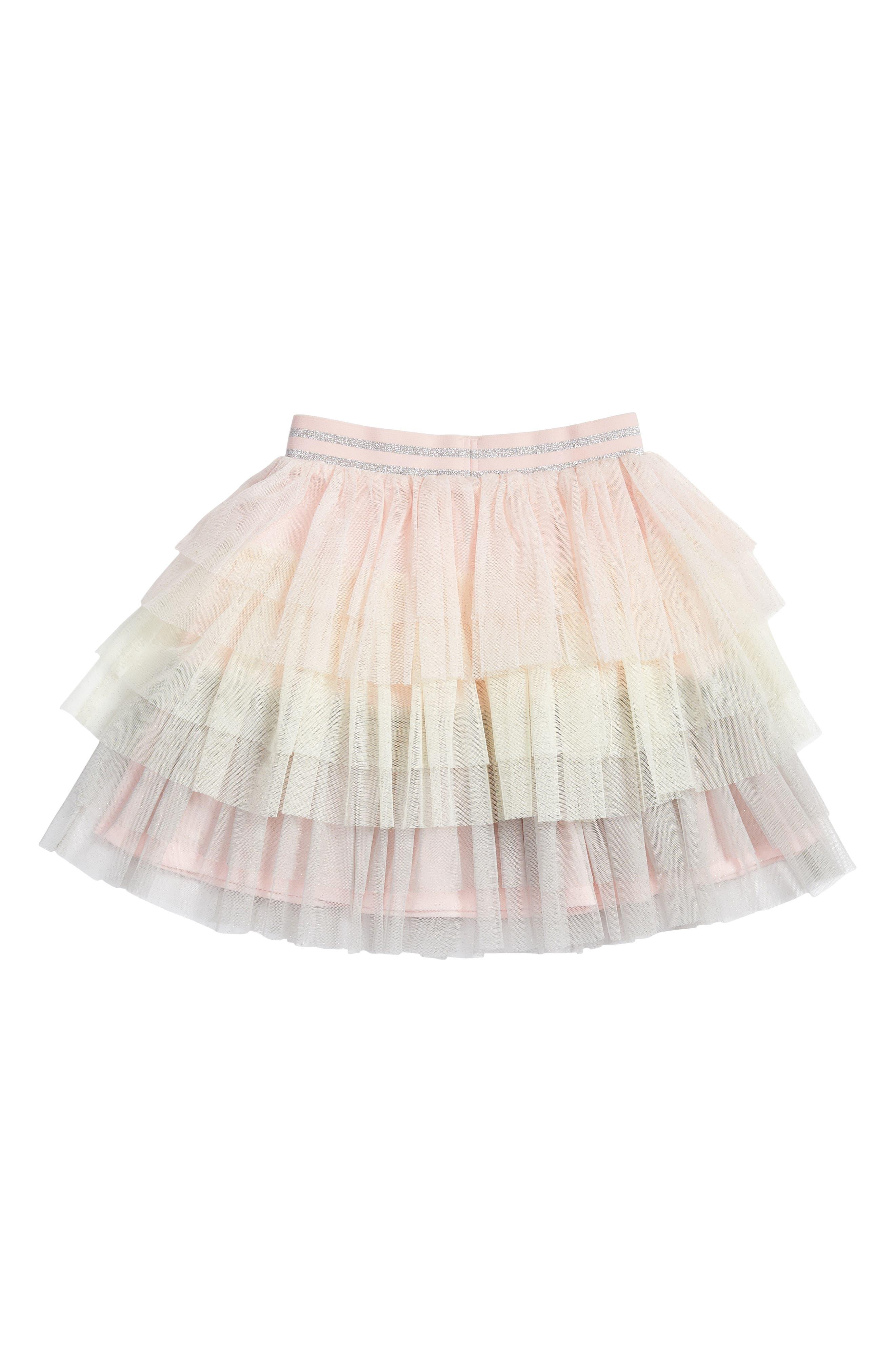 Tiered Tutu Skirt,                             Alternate thumbnail 4, color,                             Pink Multi
