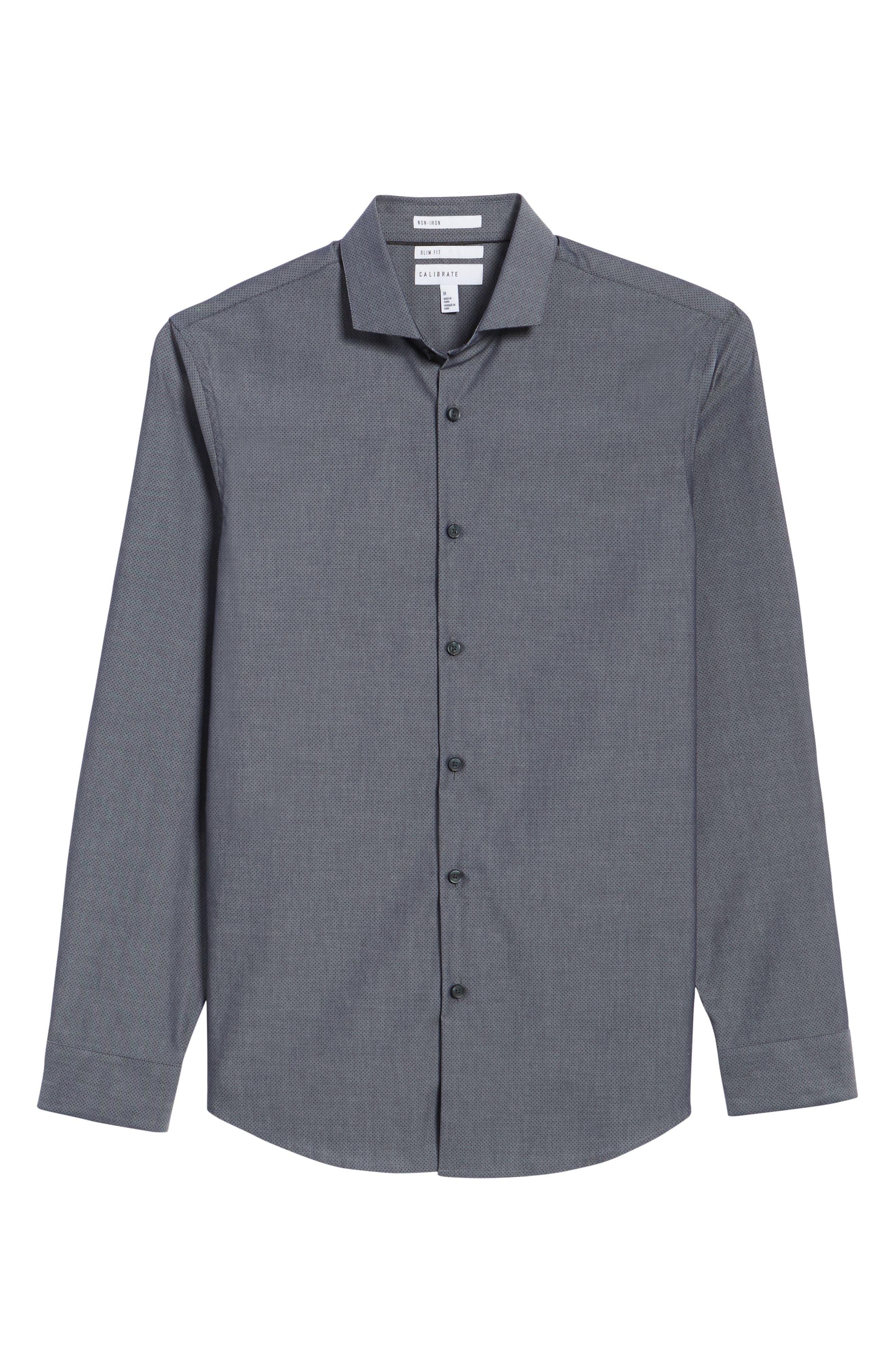 Alternate Image 6  - Calibrate Slim Fit Solid Sport Shirt