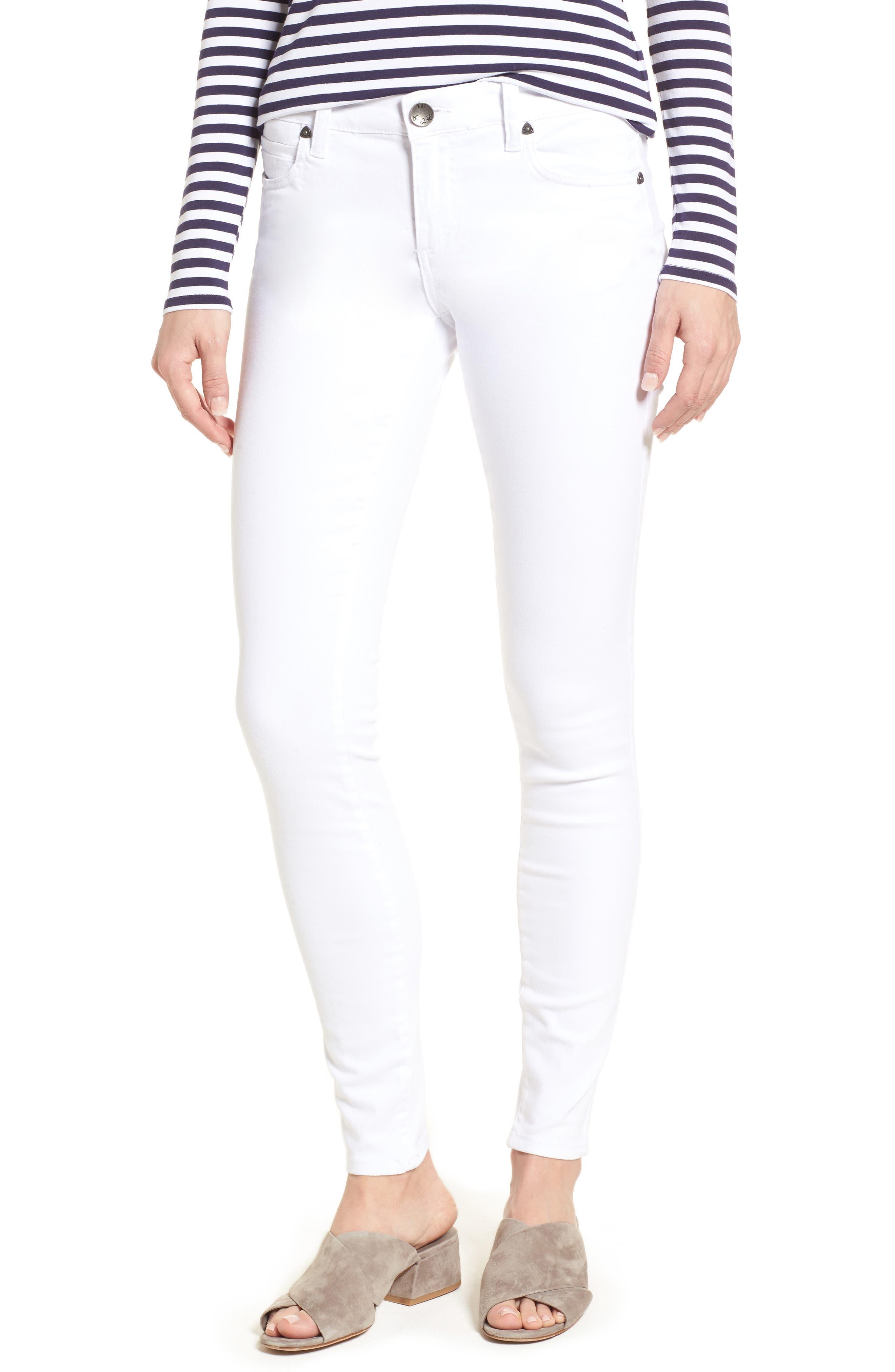 Mia Skinny Jeans,                         Main,                         color, Optic White