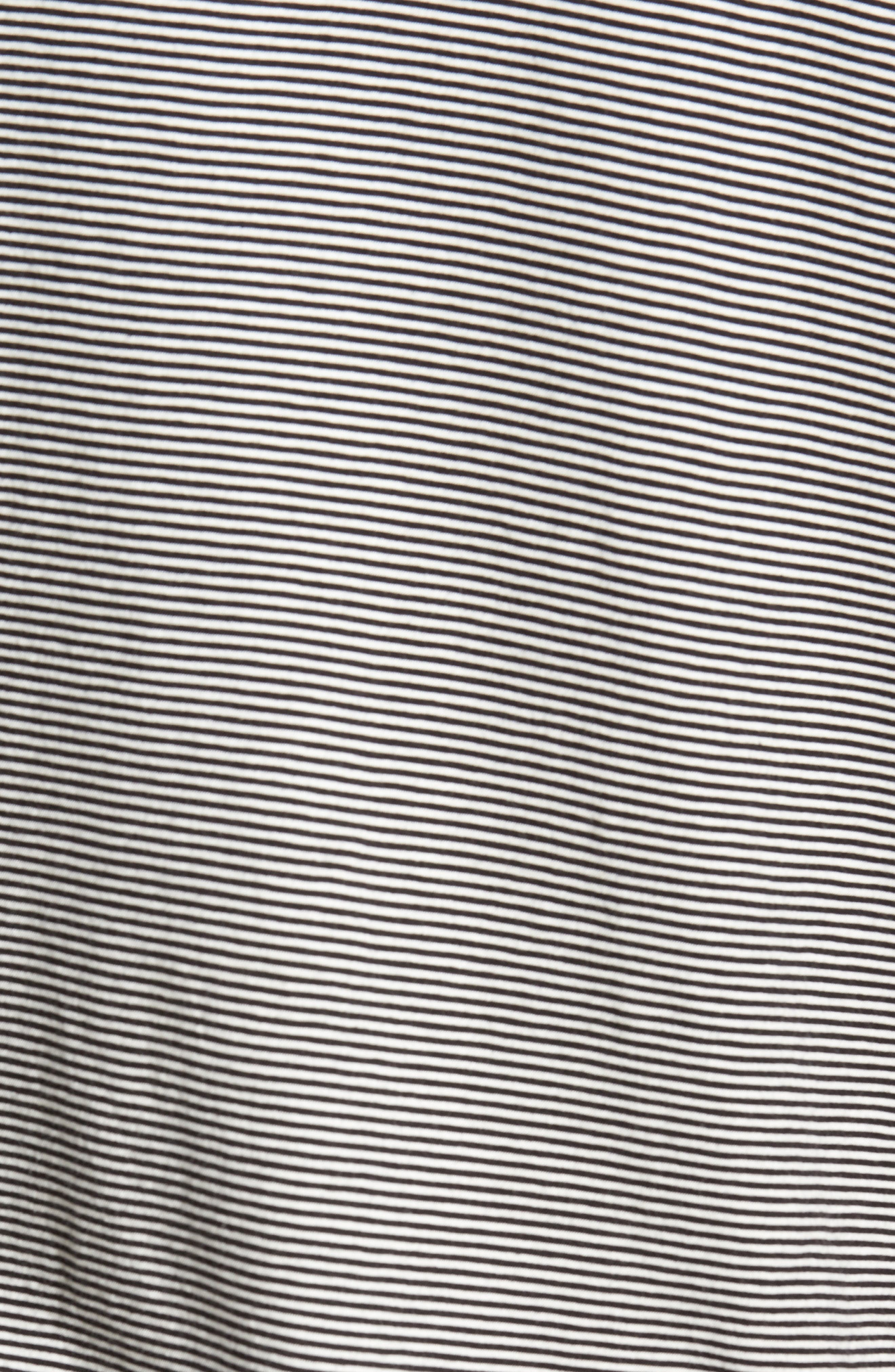 Feeder Stripe Long Sleeve Pocket T-Shirt,                             Alternate thumbnail 5, color,                             Black/ Leche