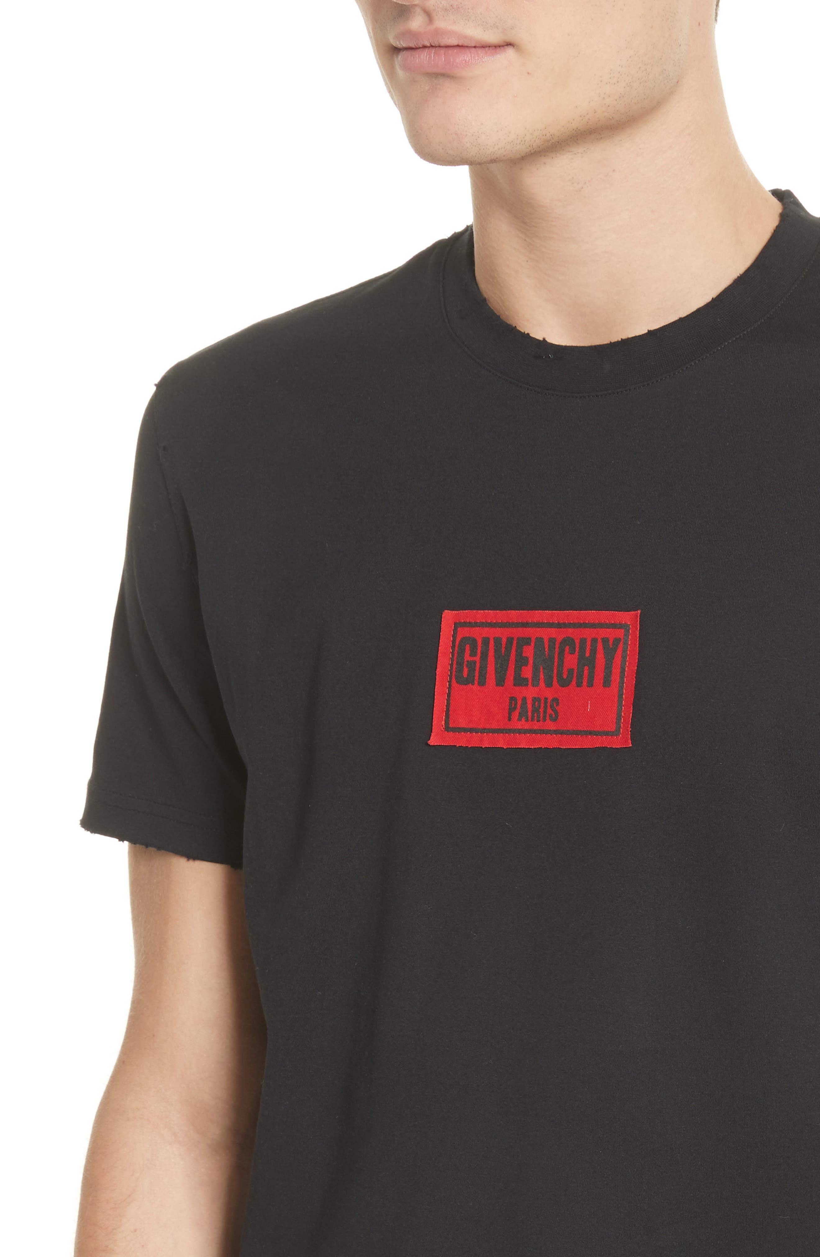 Boxing Logo T-Shirt,                             Alternate thumbnail 4, color,                             Black
