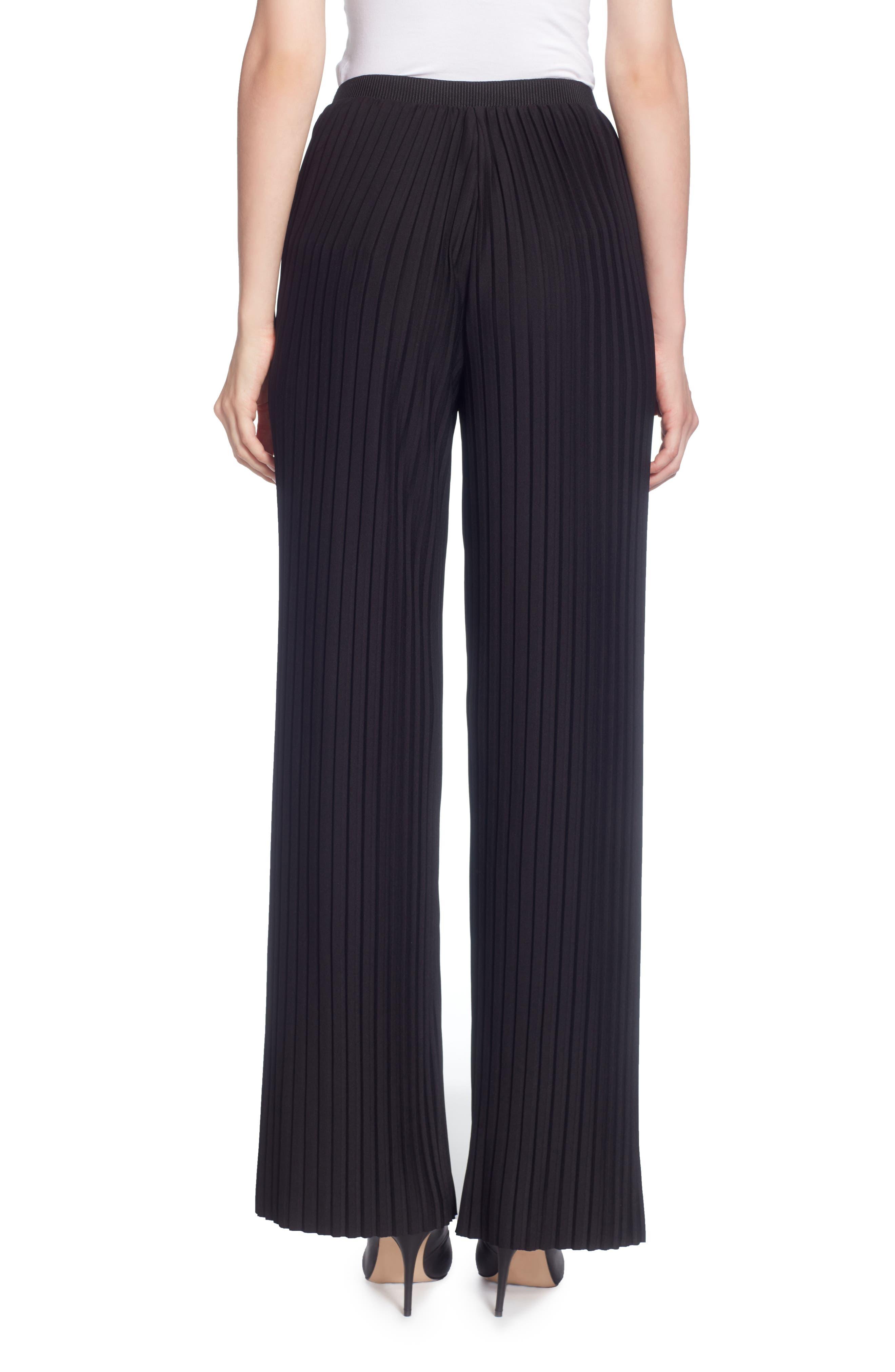 Nielson Pleat Pants,                             Alternate thumbnail 2, color,                             Black