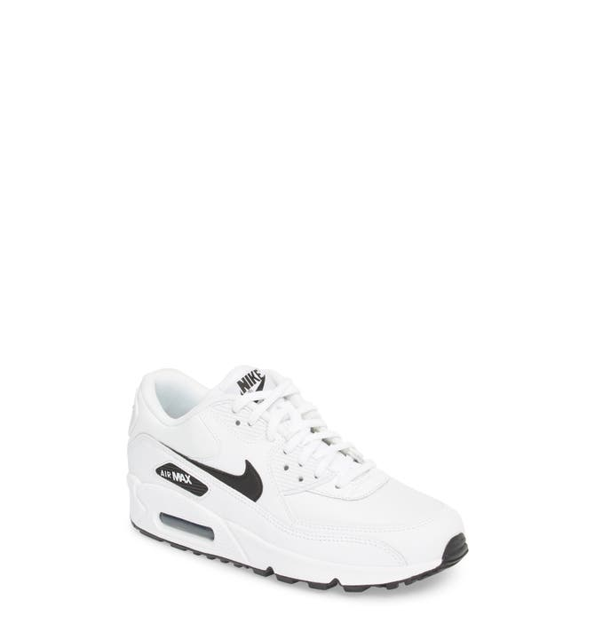 Nike Air Max 90 Girls' Preschool Running Shoes Pure Platinum