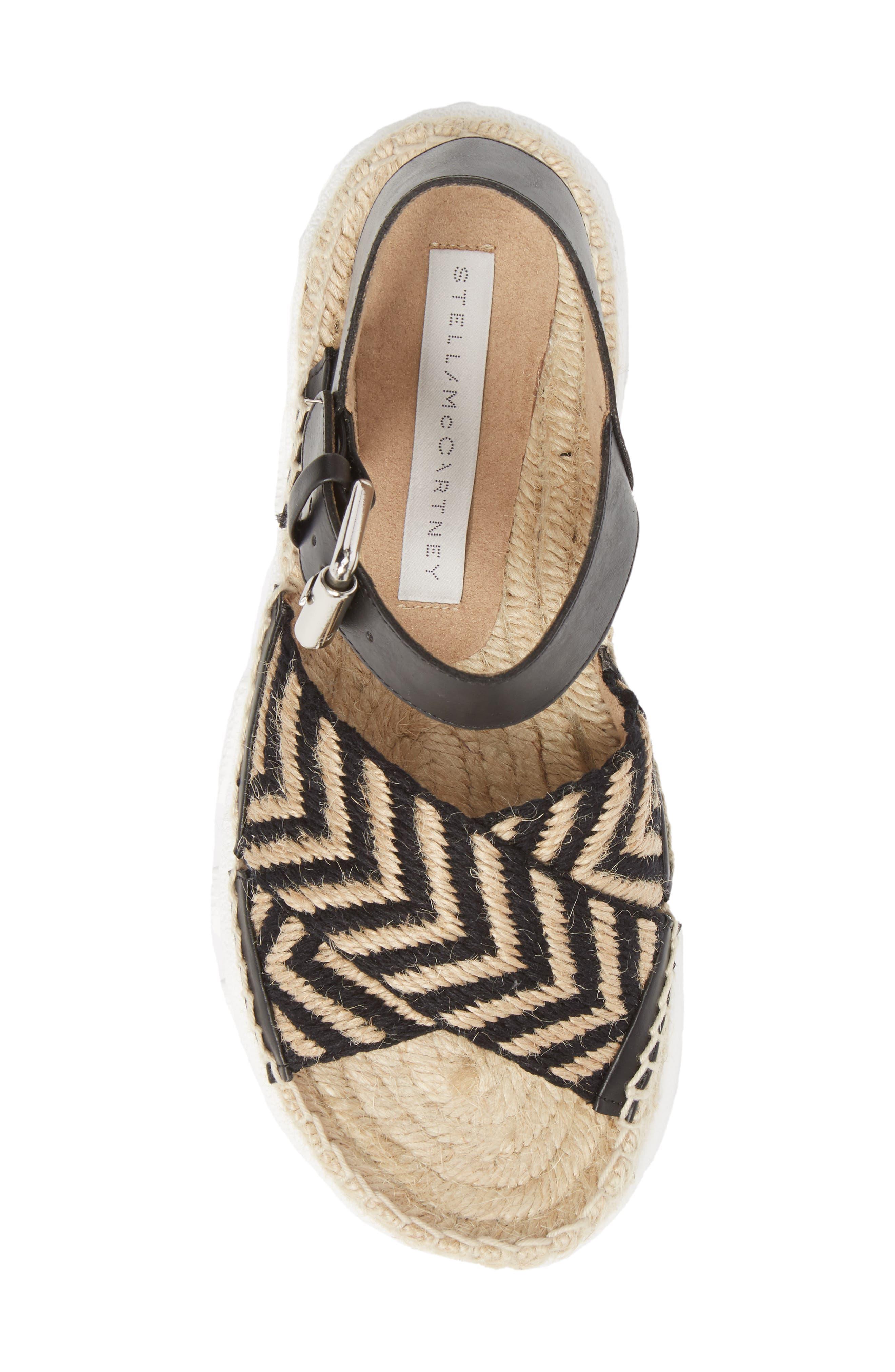 Alternate Image 5  - Stella McCartney Grooved Chevron Sandal (Women)