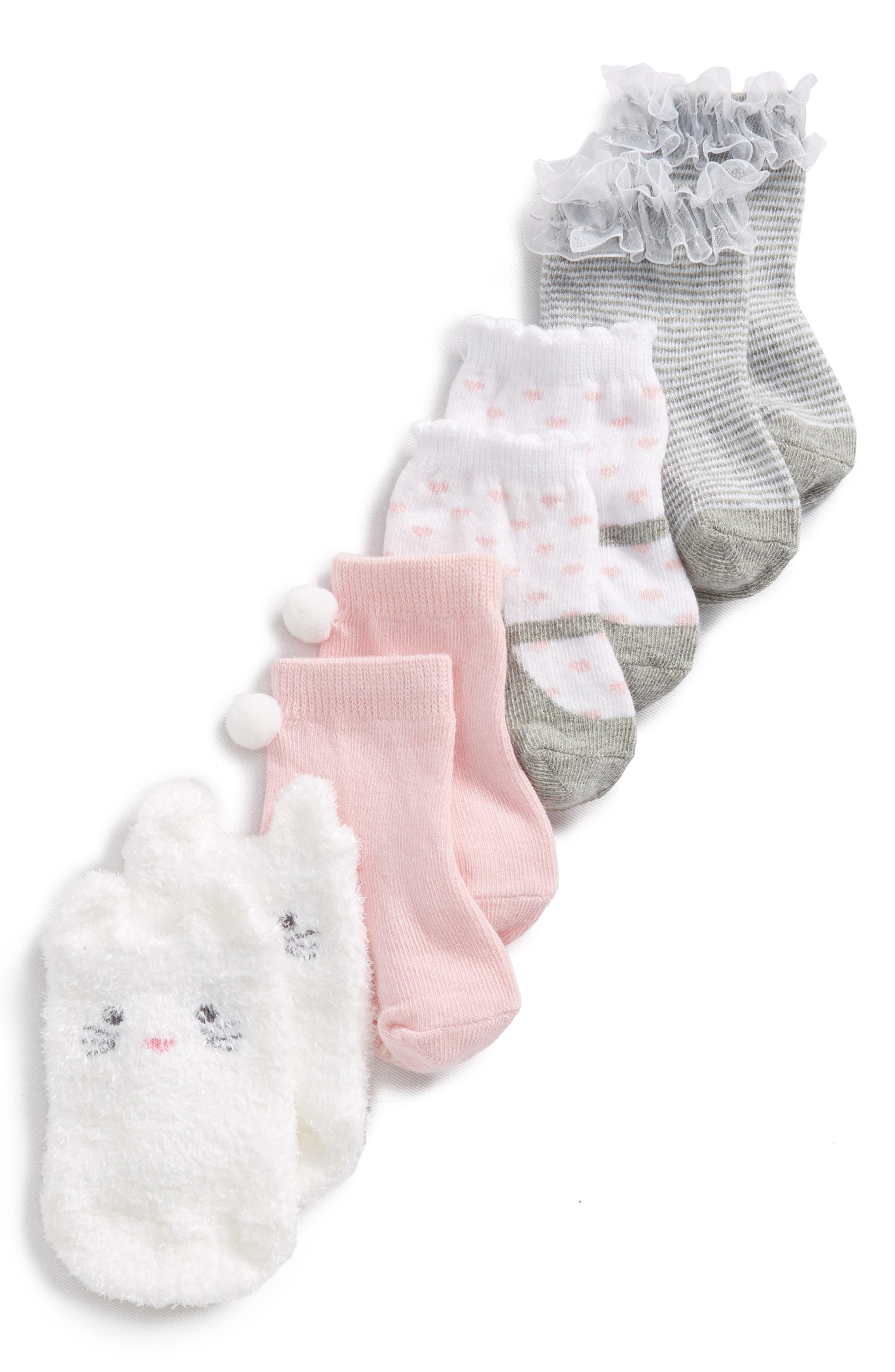 Trumpette April 4-Pack Socks (Baby Girls)
