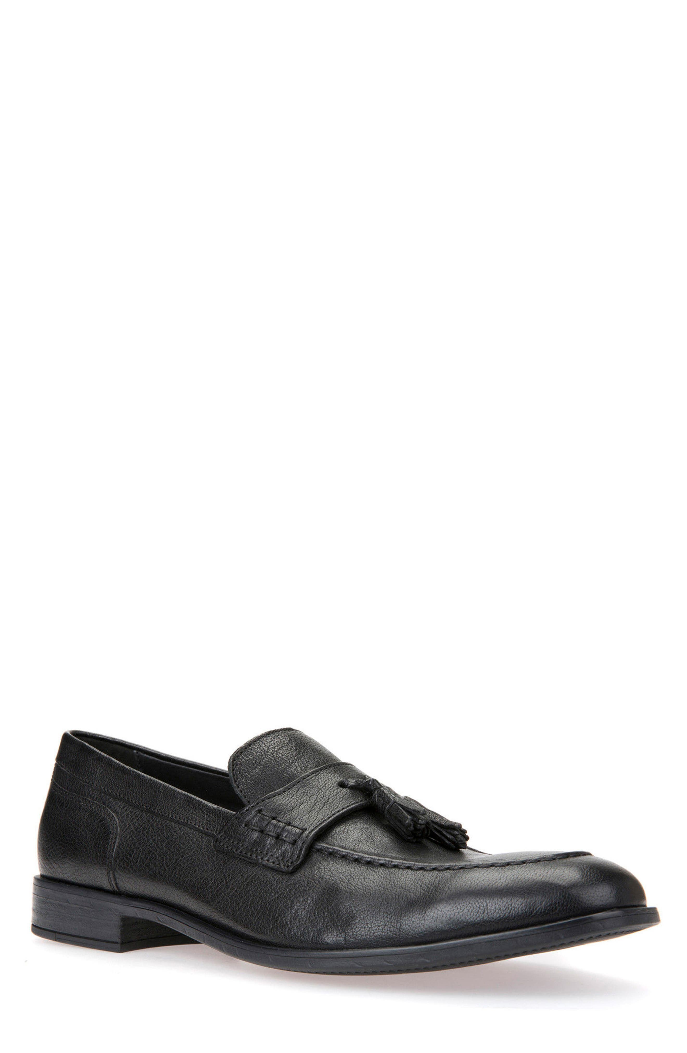 Bryceton 4 Tassel Loafer,                             Main thumbnail 1, color,                             Black Leather