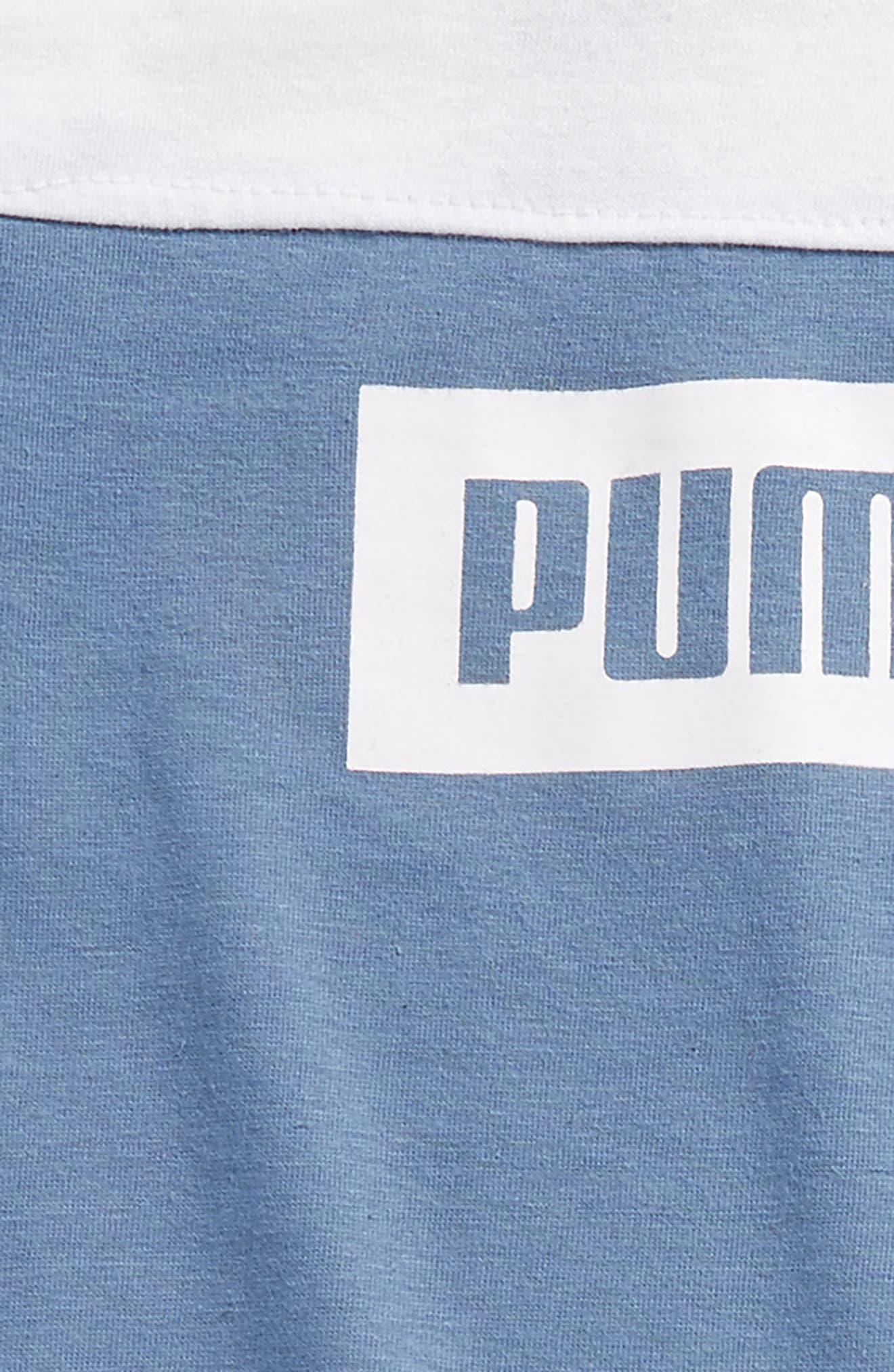 Alternate Image 2  - PUMA Rebel Logo T-Shirt & Shorts Set (Toddler Boys & Little Boys)