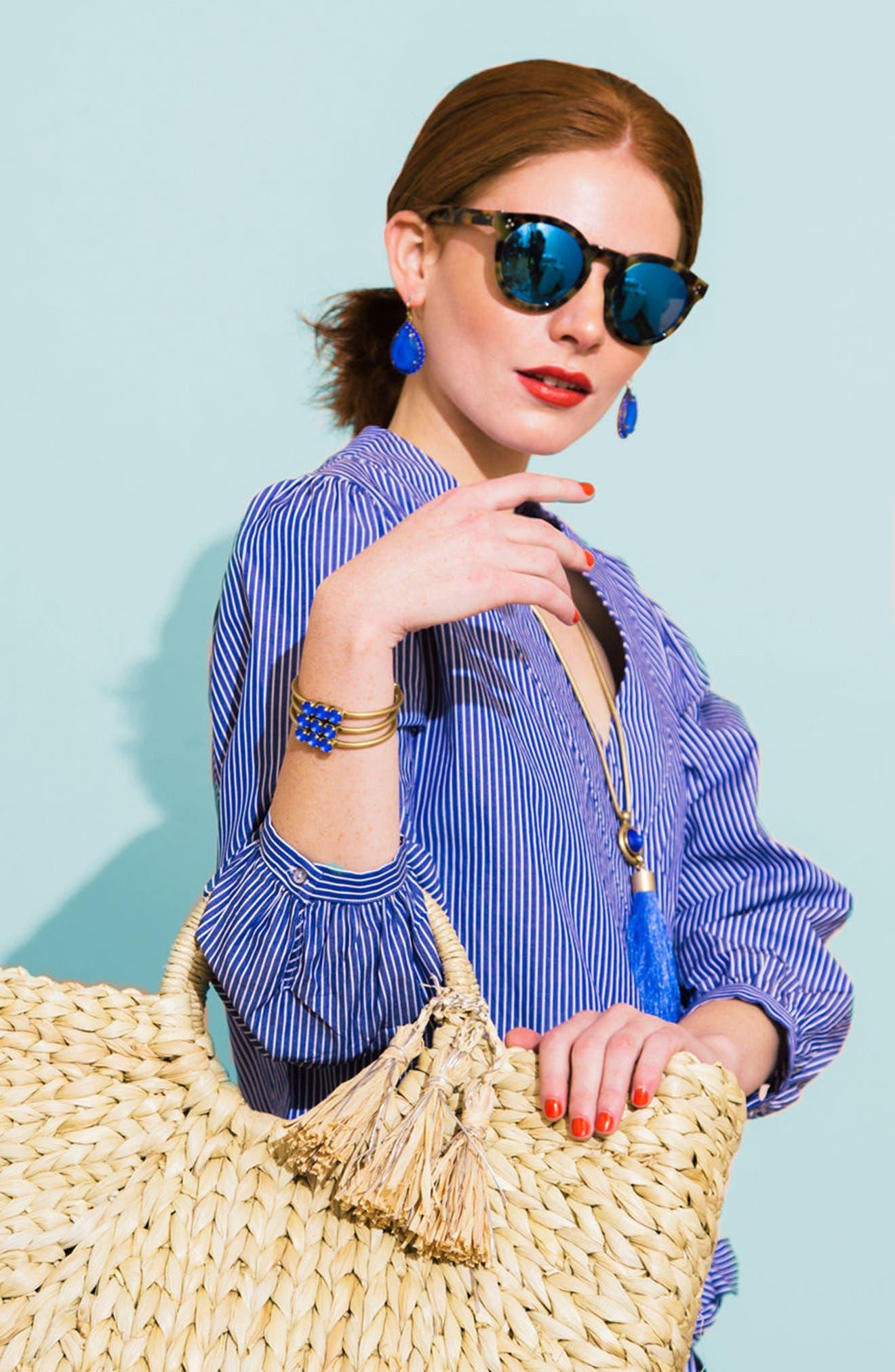 Alternate Image 3  - Loren Hope Scarlet Tassel Pendant Necklace