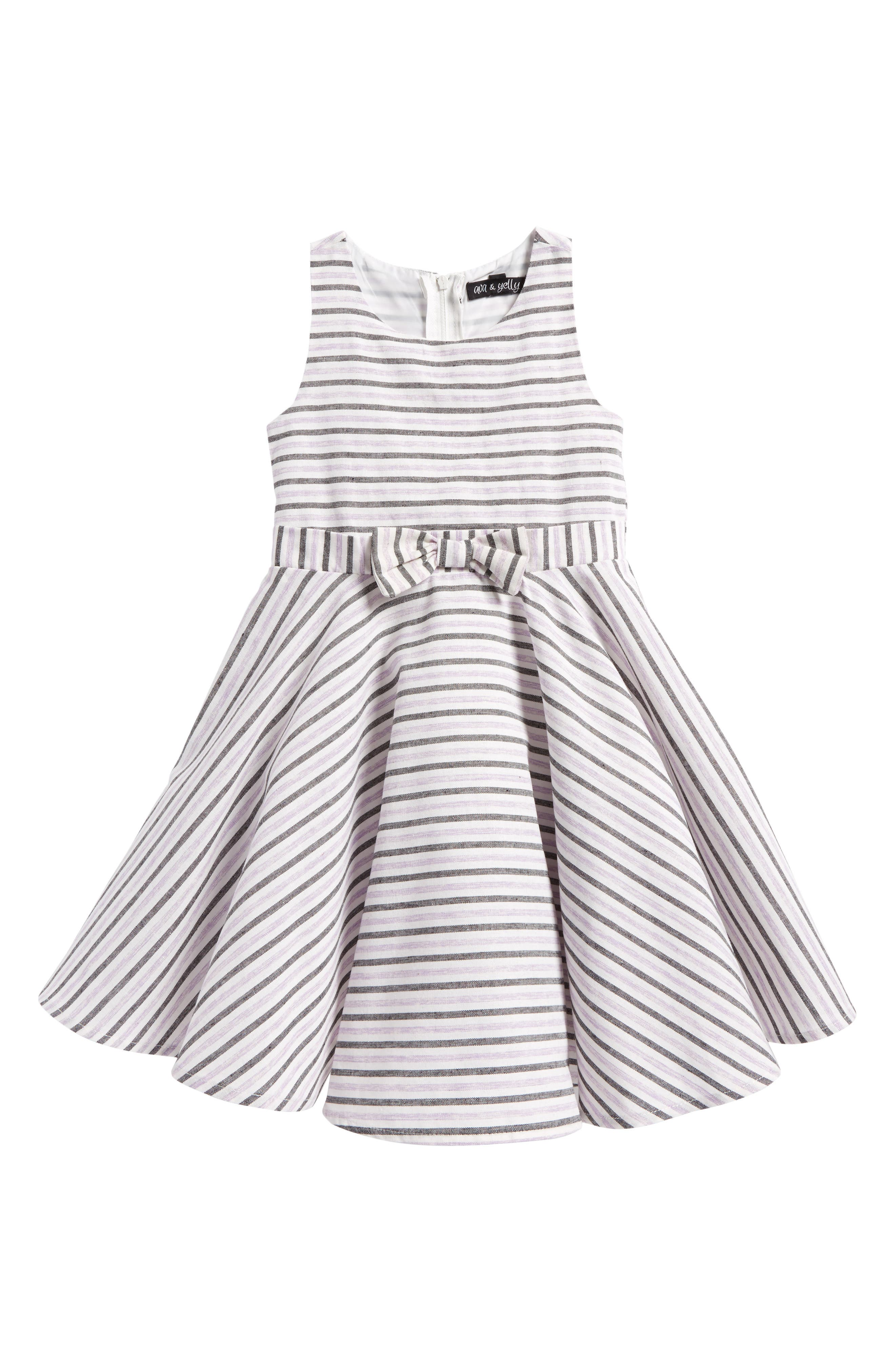 Stripe Cotton Dress,                             Main thumbnail 1, color,                             Lilac