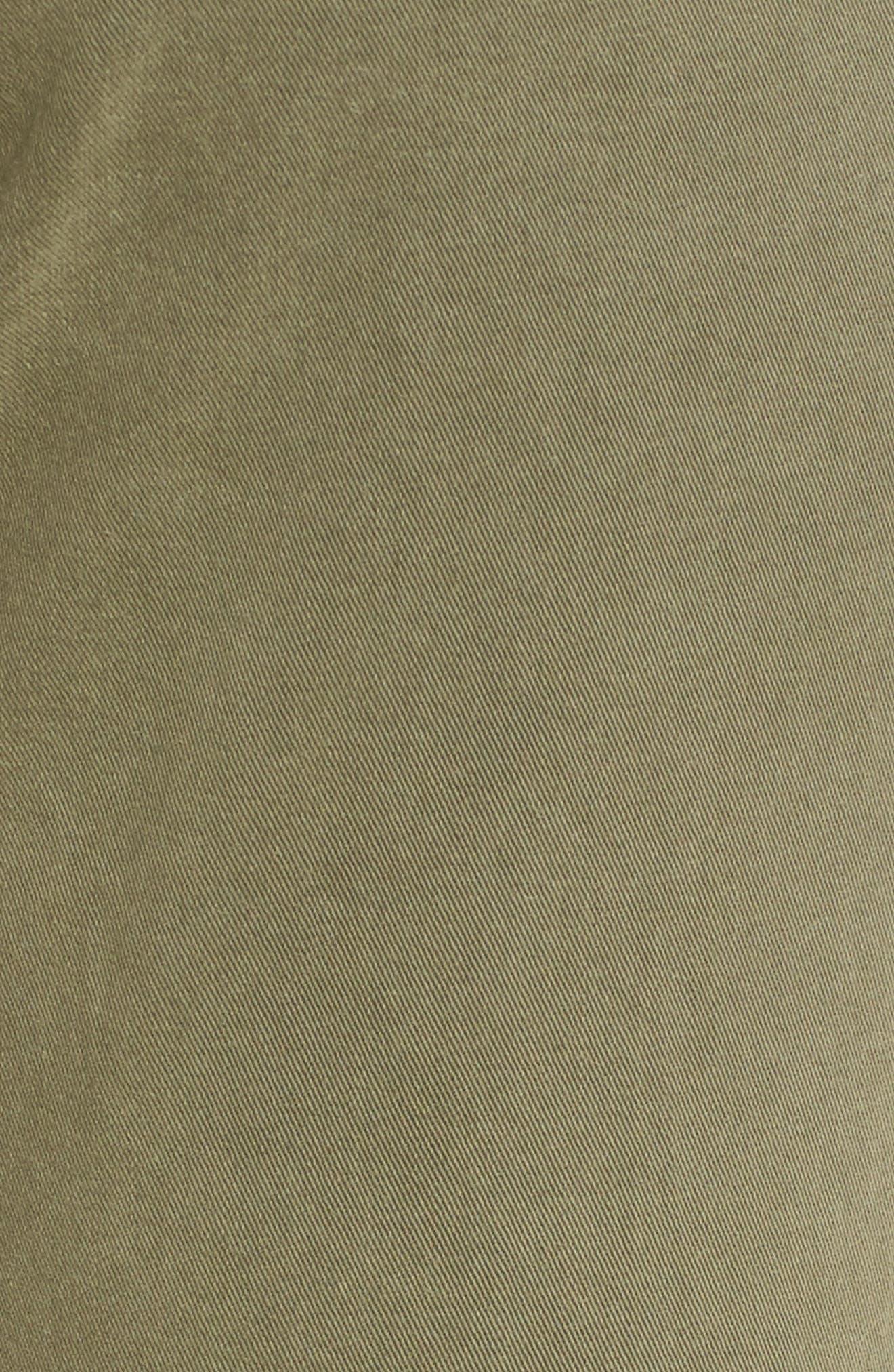 Brigitte Crop Boyfriend Jeans,                             Alternate thumbnail 6, color,                             Vintage Green