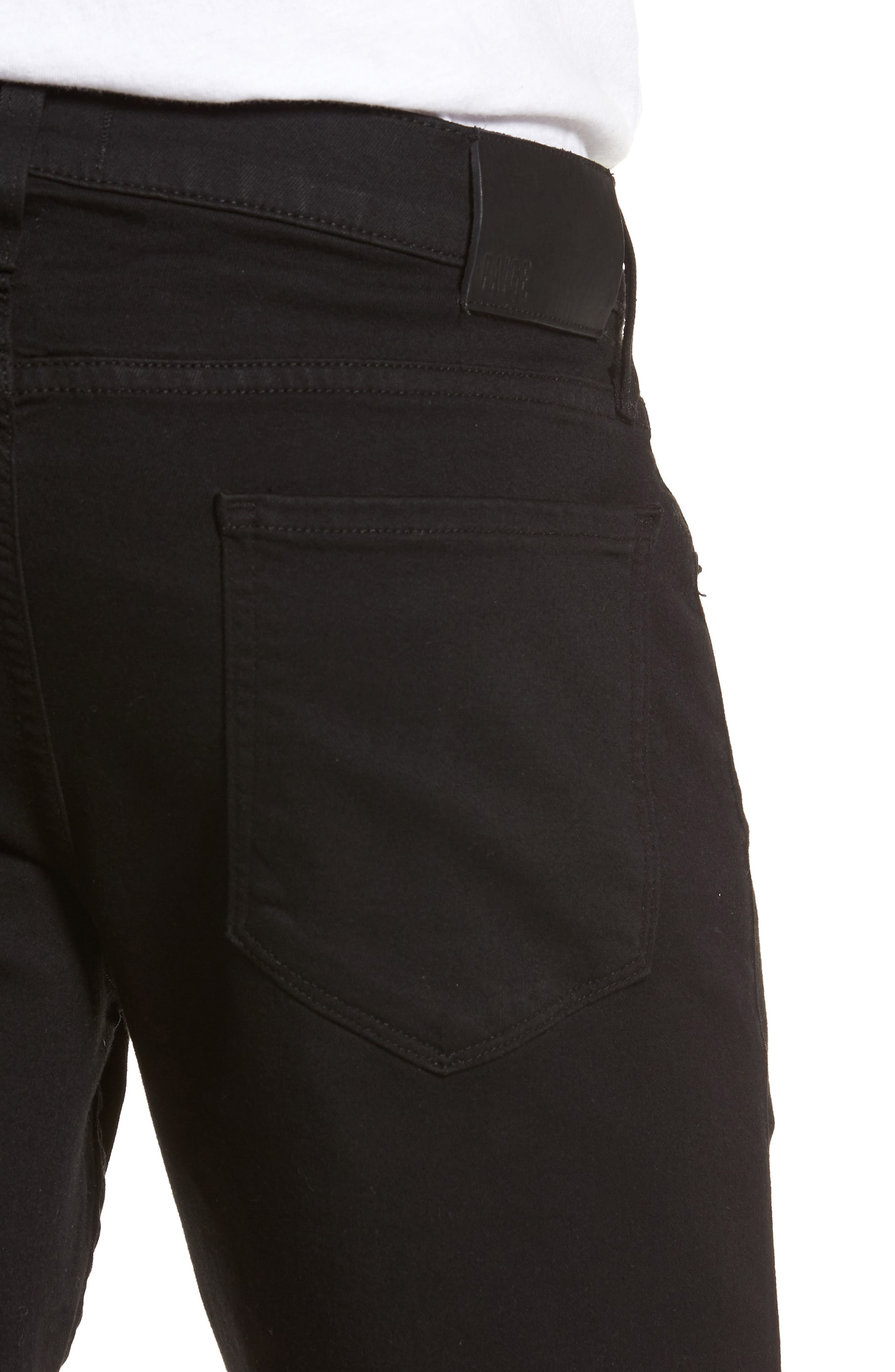 Alternate Image 4  - PAIGE Transcend - Federal Slim Straight Leg Denim Shorts (Black Shadow)