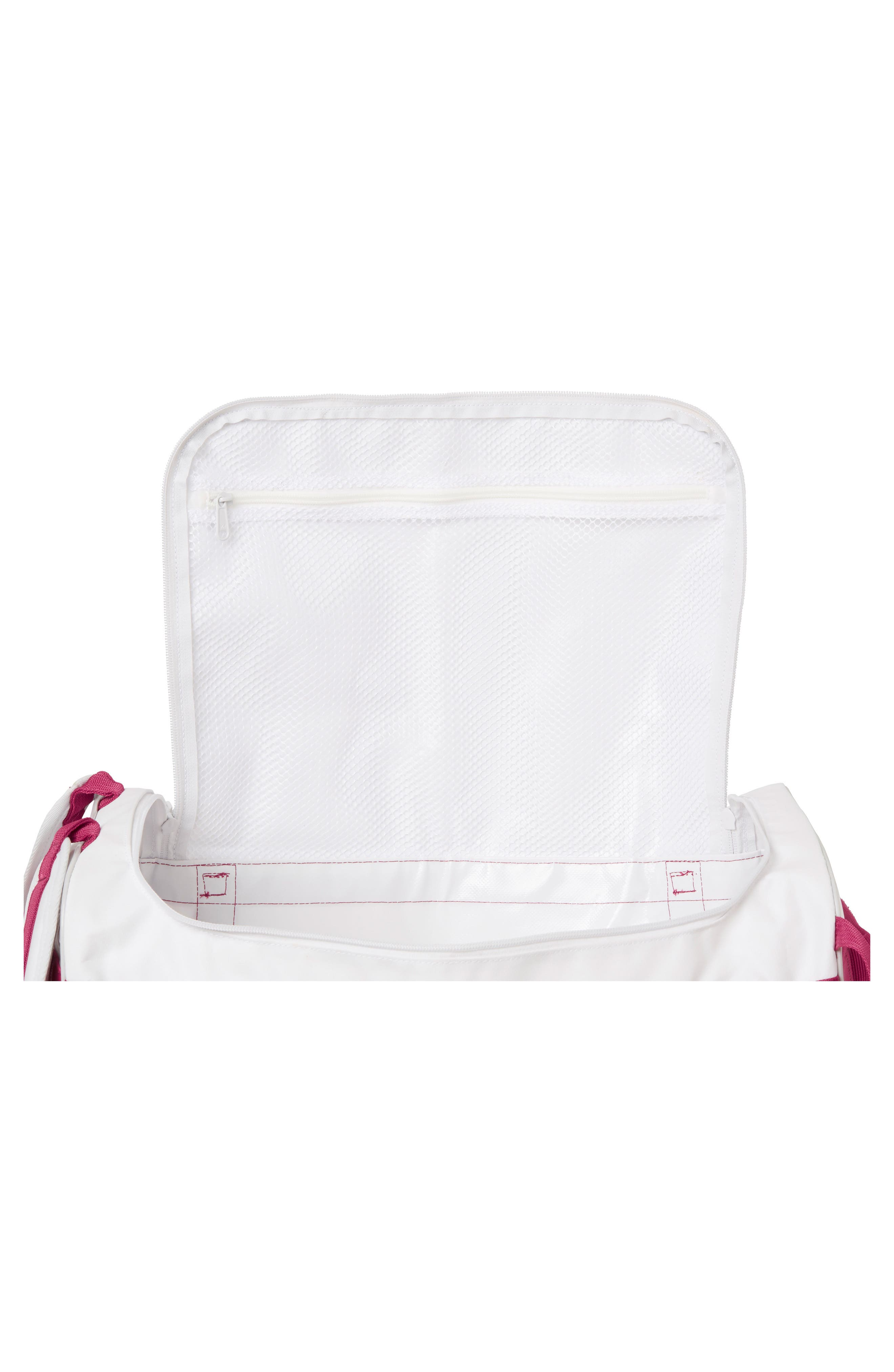 New Classic Extra Small Duffel Bag,                             Alternate thumbnail 3, color,                             White