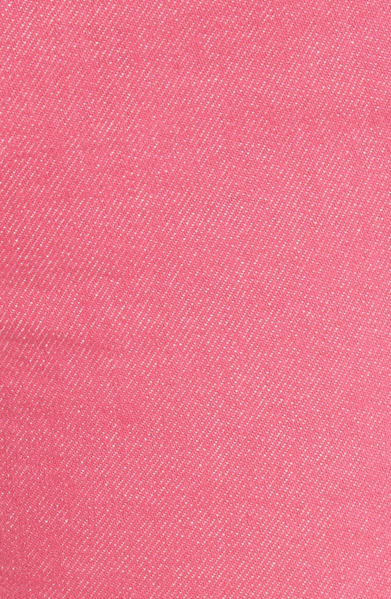 High Waist Ankle Cigarette Leg Jeans,                             Alternate thumbnail 6, color,                             Bull Pink
