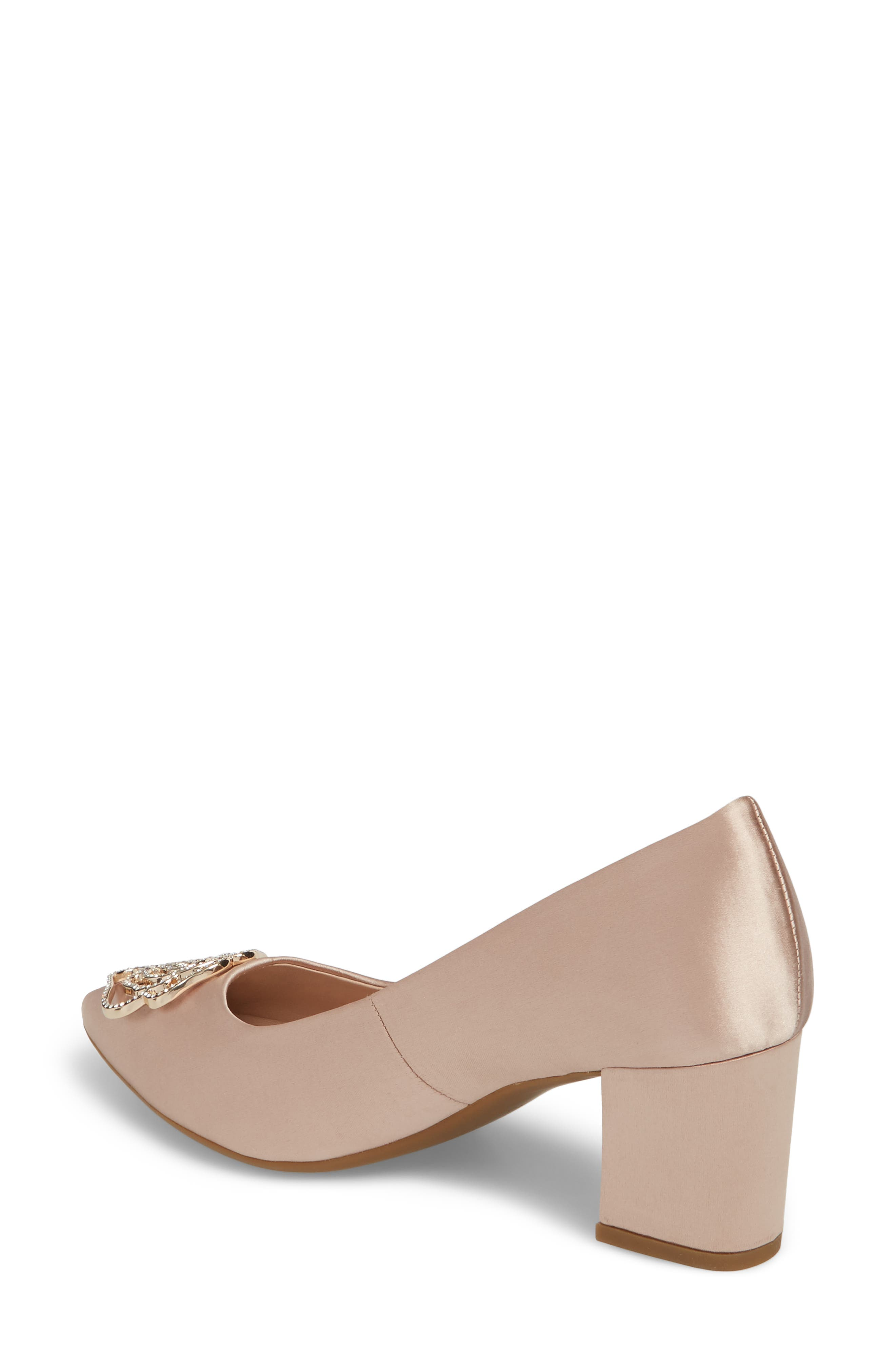 Maci Pump,                             Alternate thumbnail 2, color,                             Blush Satin Fabric