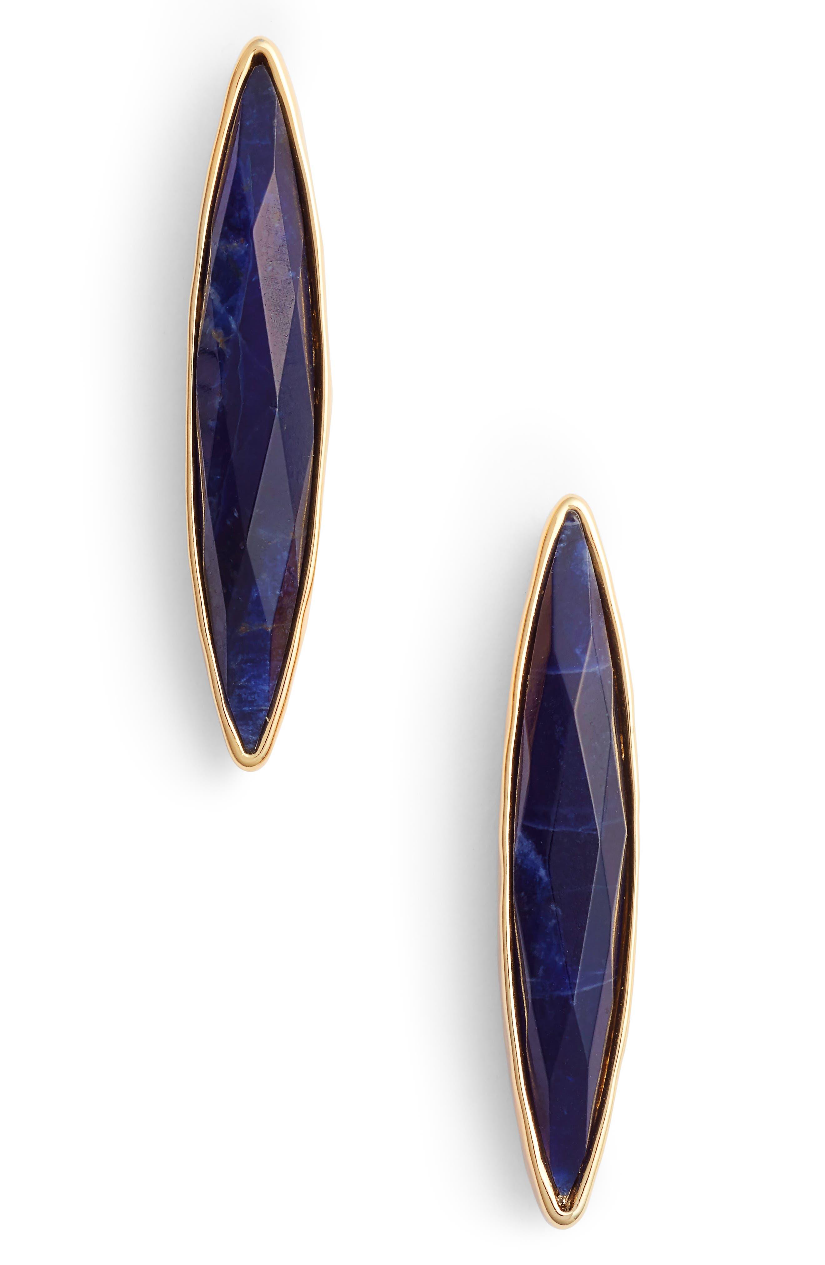 Palisades Drop Earrings,                         Main,                         color, Sodalite/ Gold