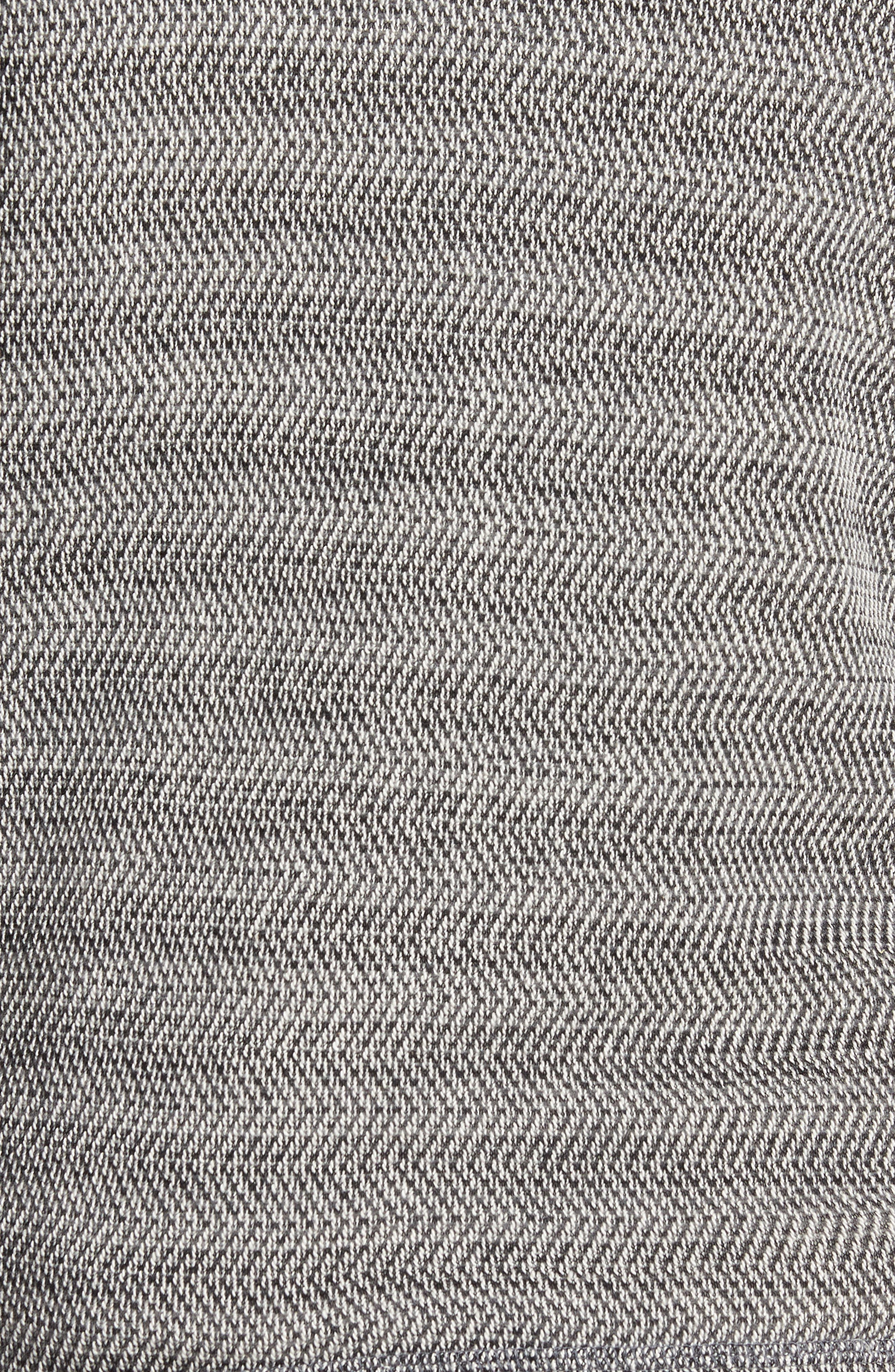 Herringbone Hoodie,                             Alternate thumbnail 5, color,                             Black/ Natural