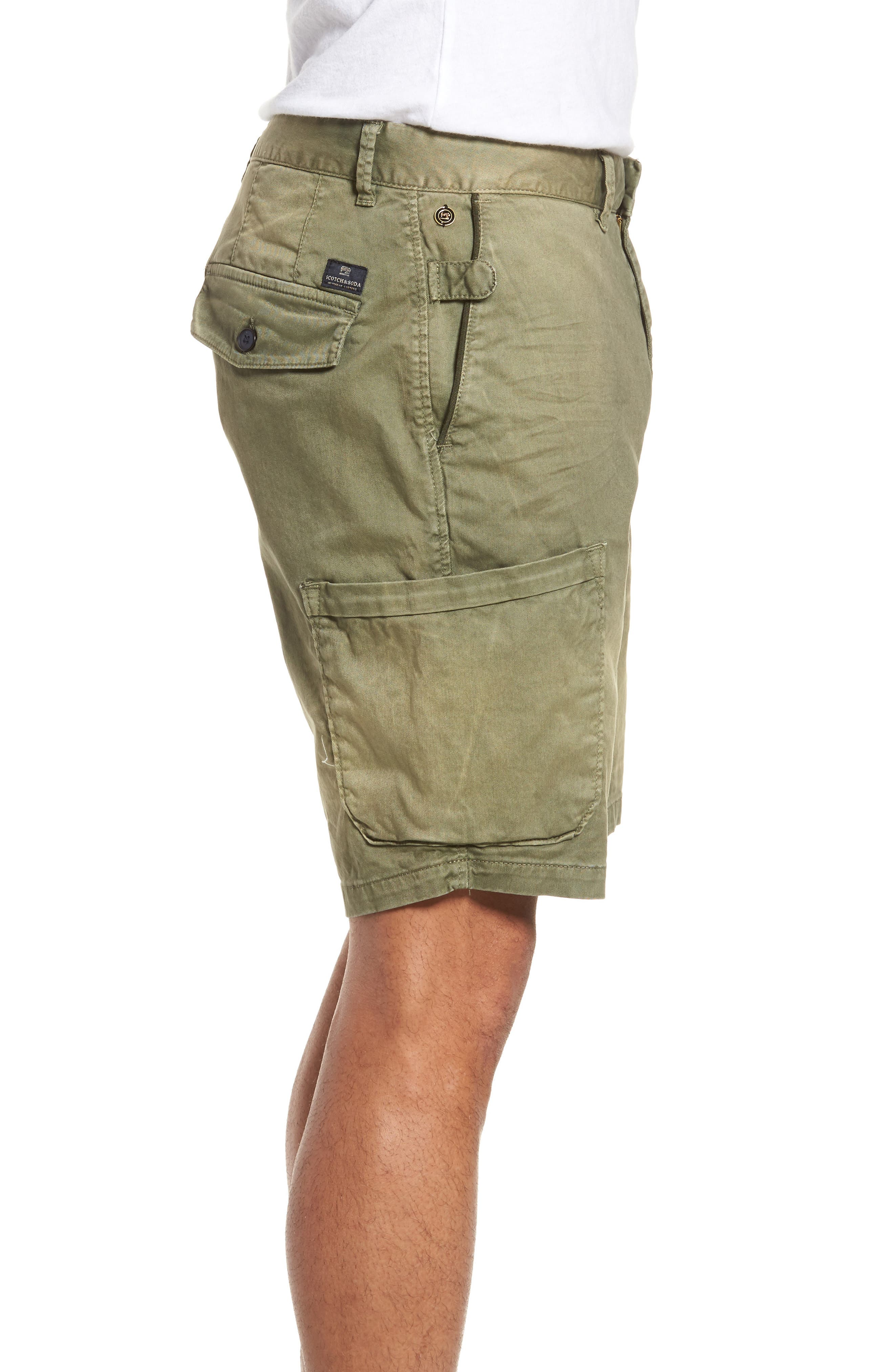 Washed Cargo Shorts,                             Alternate thumbnail 4, color,                             Army