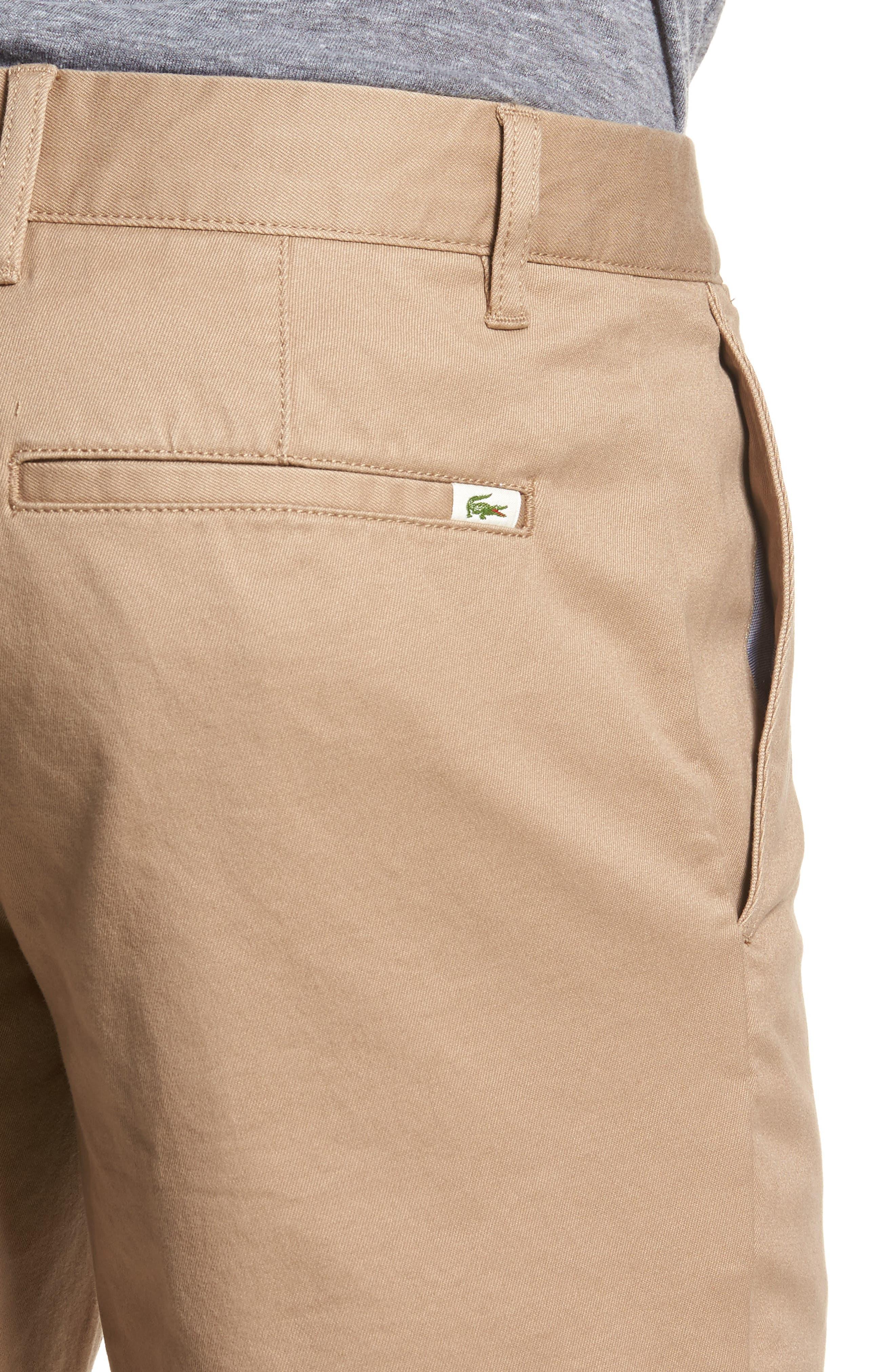 Slim Fit Chino Shorts,                             Alternate thumbnail 4, color,                             Kraft Beige