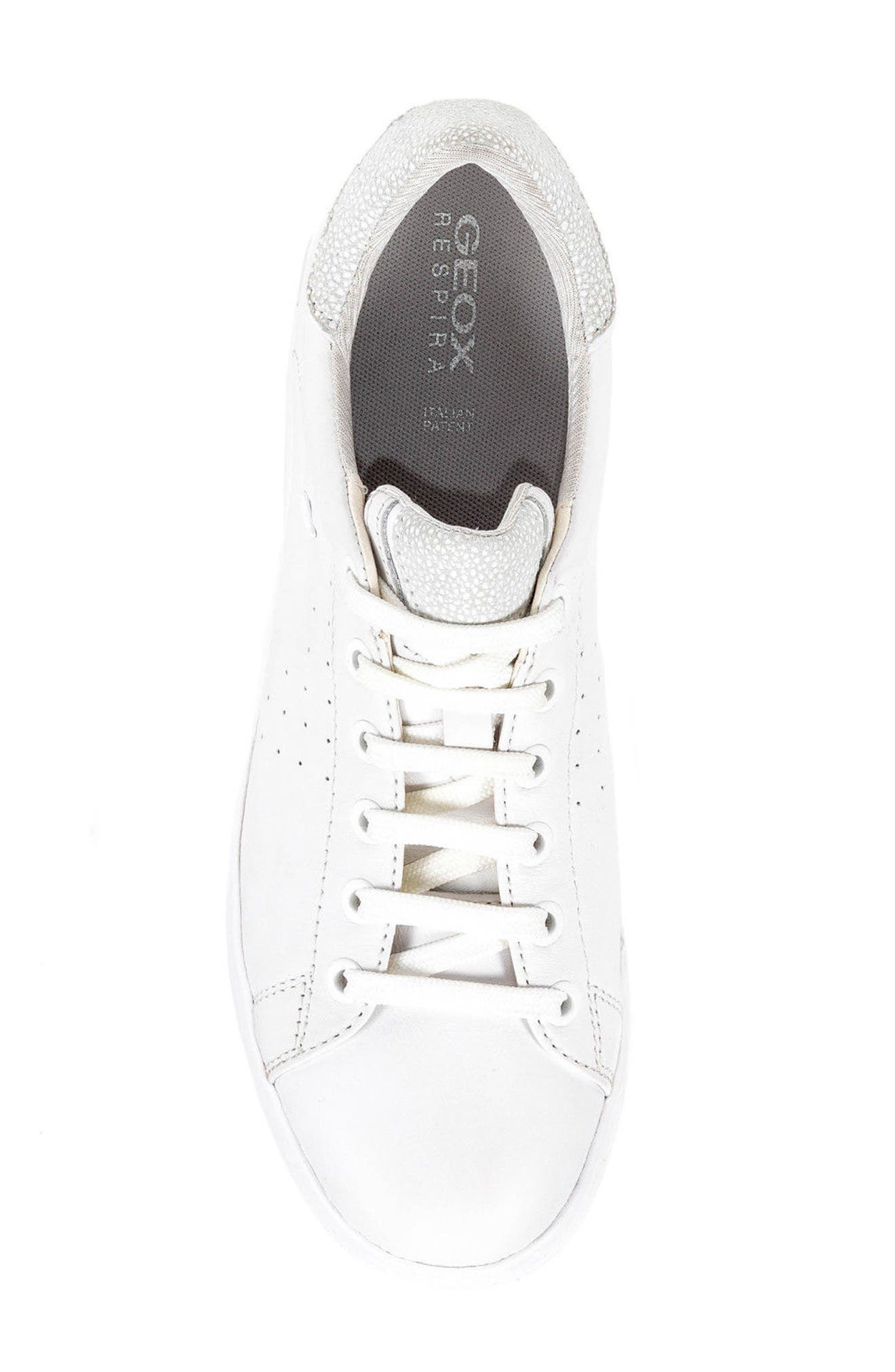 Jaysen Sneaker,                             Alternate thumbnail 5, color,                             White Leather