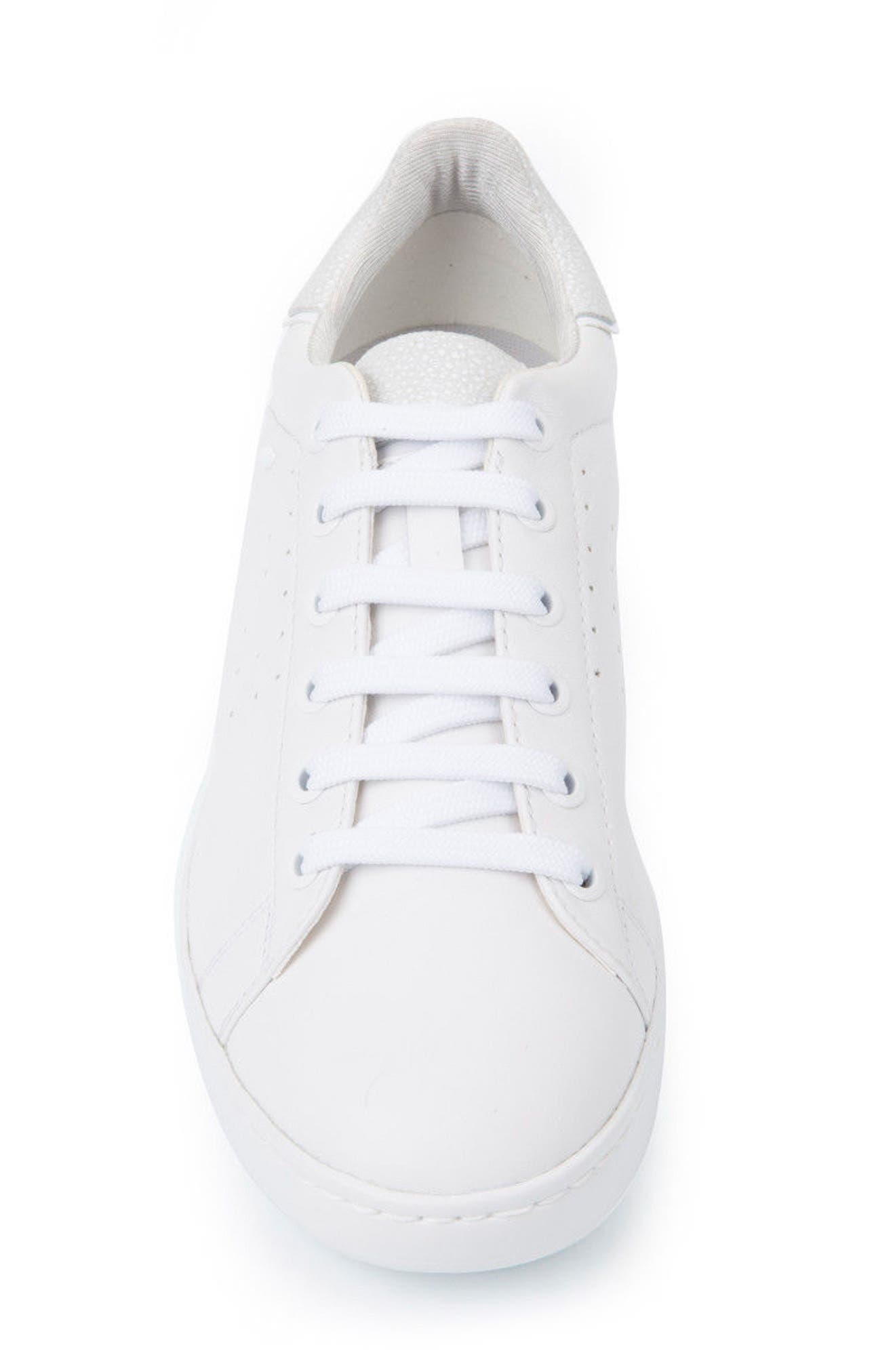 Jaysen Sneaker,                             Alternate thumbnail 4, color,                             White Leather