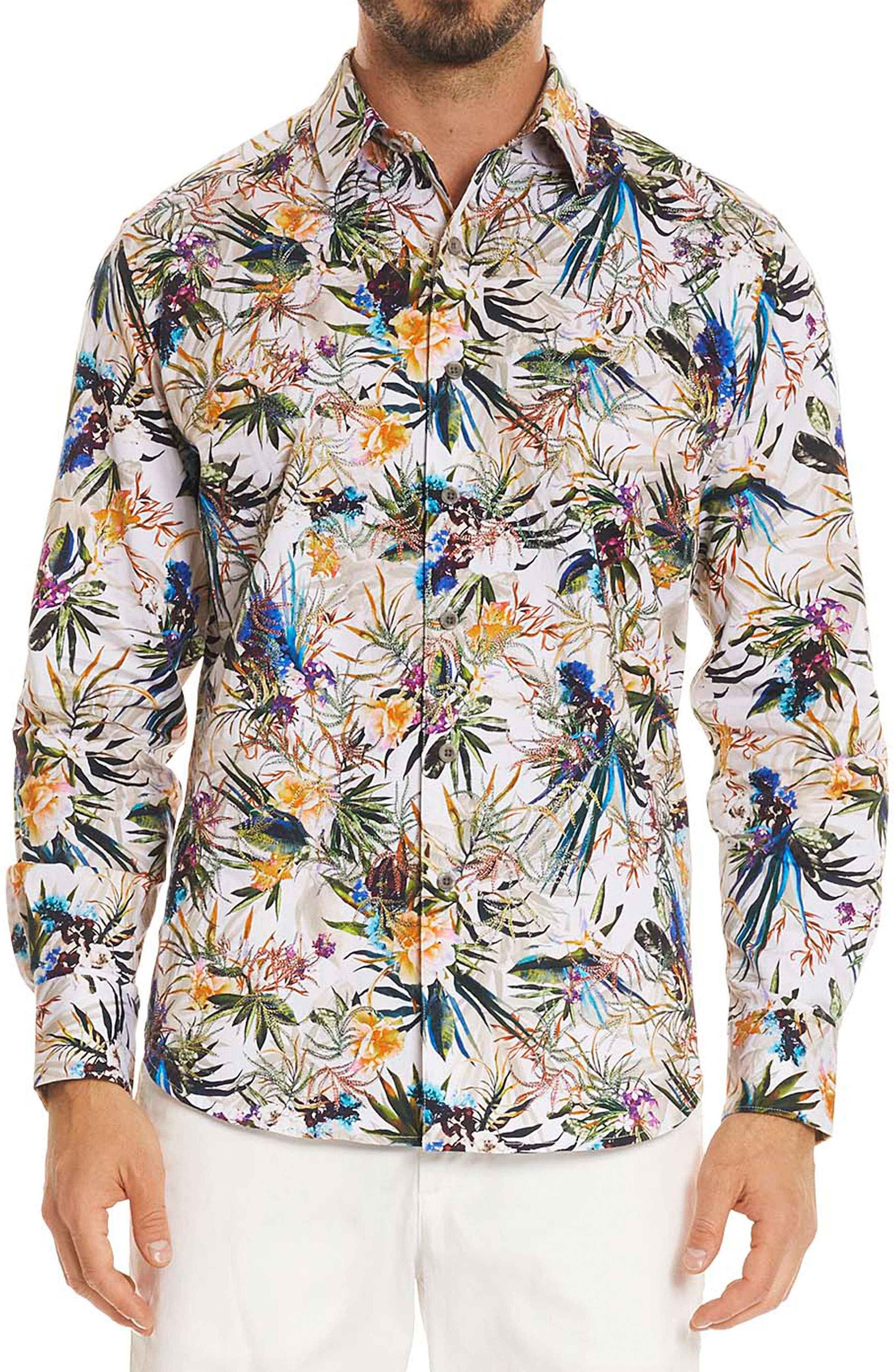 Botanics Classic Fit Sport Shirt,                         Main,                         color, Multi