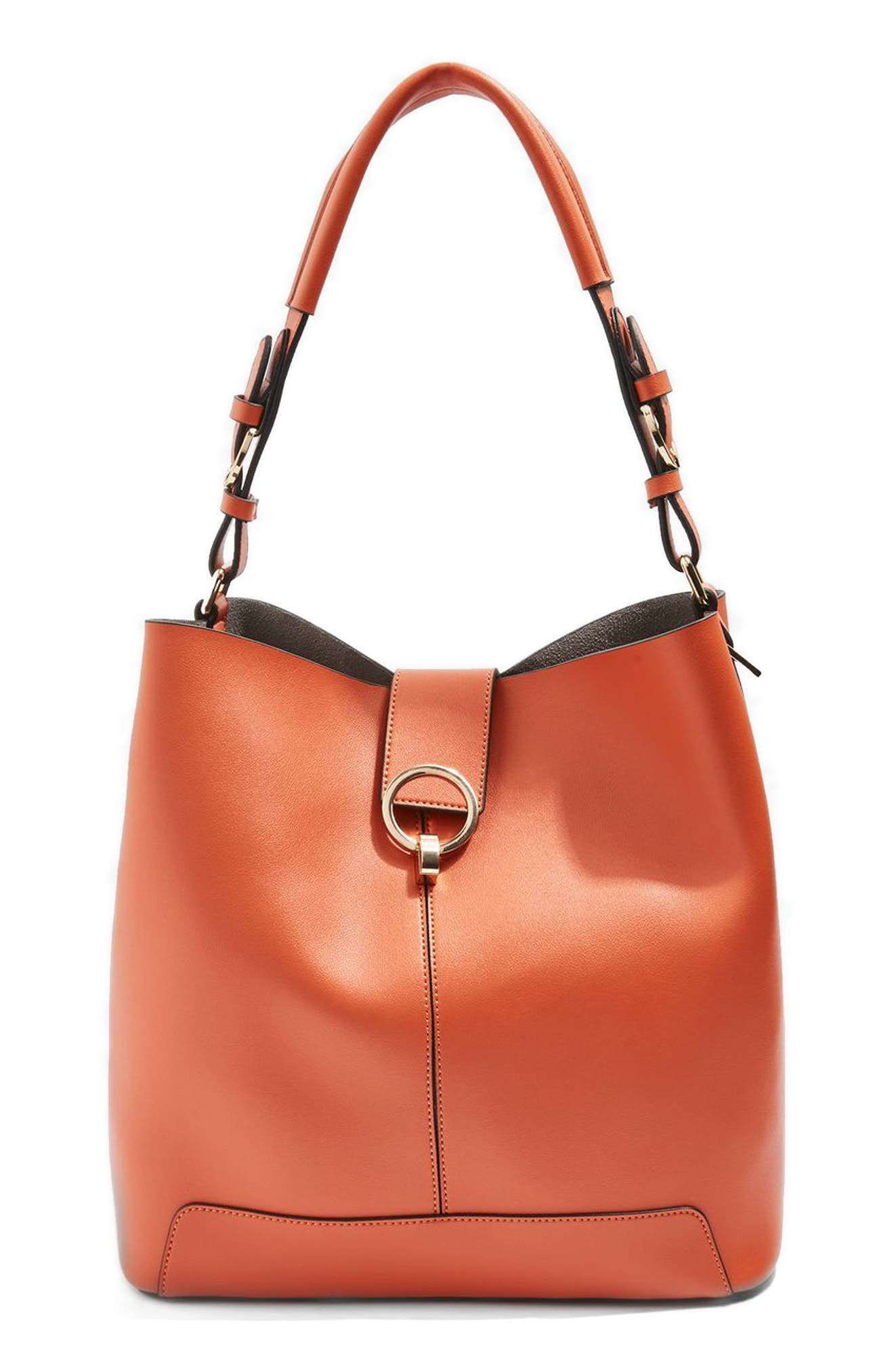 Alternate Image 1 Selected - Topshop Harper Faux Leather Hobo