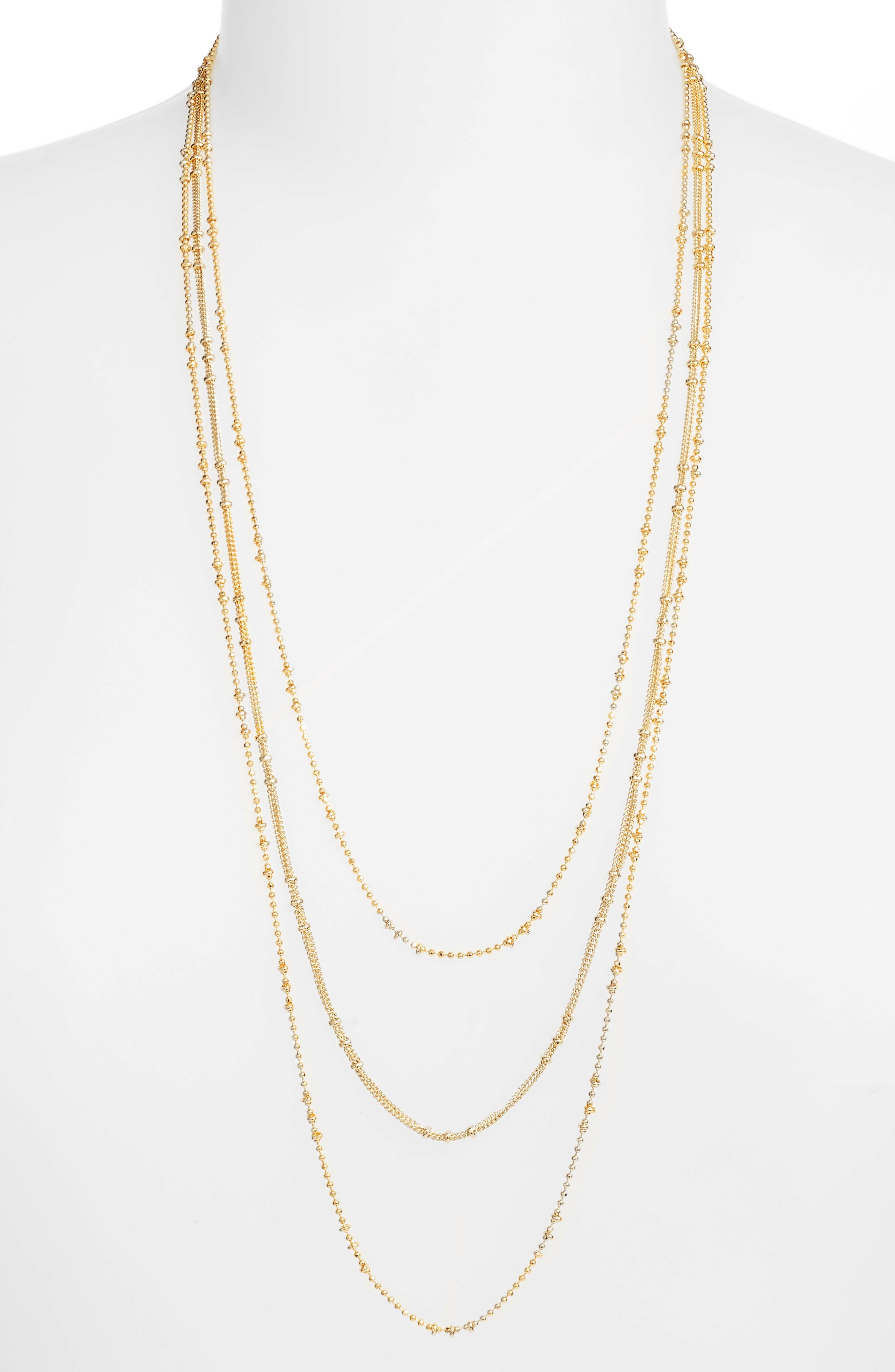 Margo 18K Layered Chain Necklace,                             Main thumbnail 1, color,                             Gold