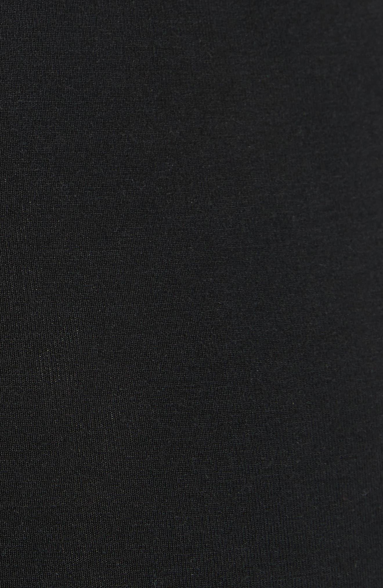 Keyhole Neck Body-Con Dress,                             Alternate thumbnail 5, color,                             Black