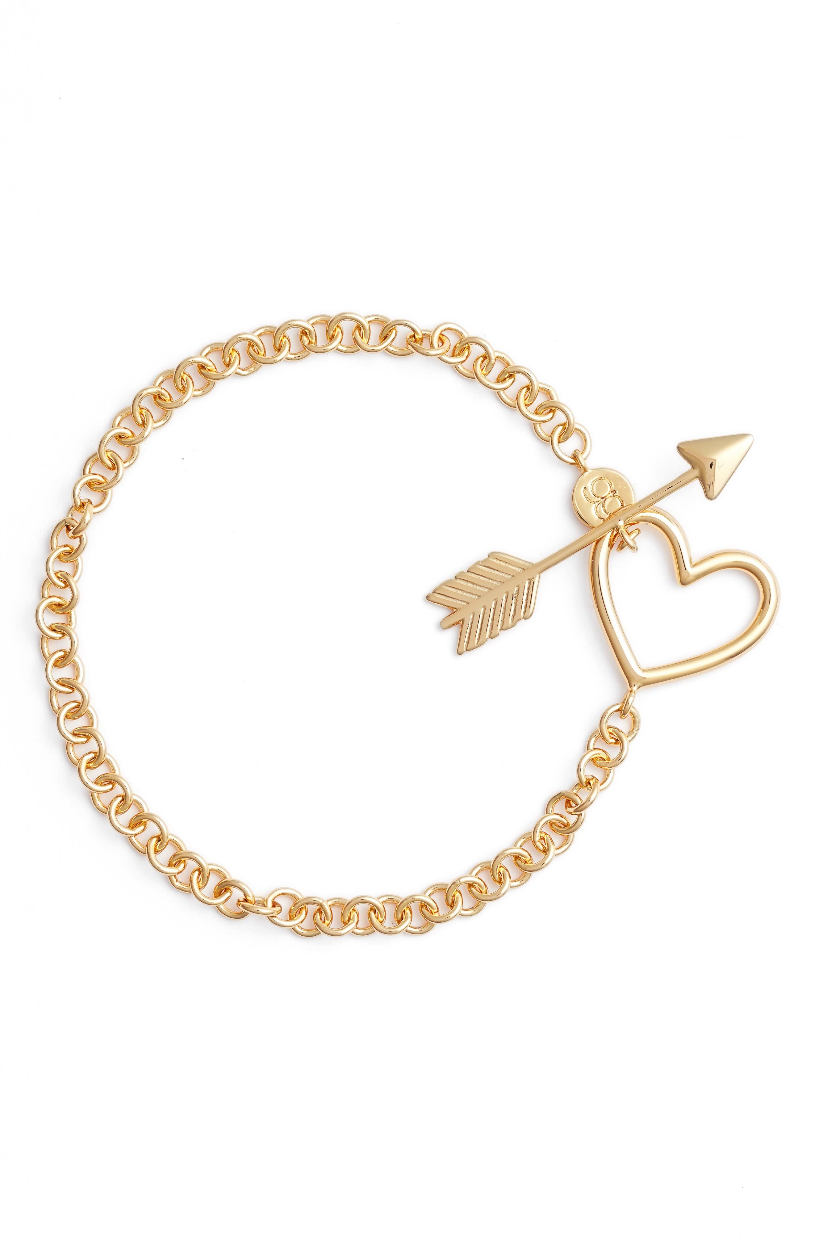 Cupid Toggle Bracelet,                         Main,                         color, Gold