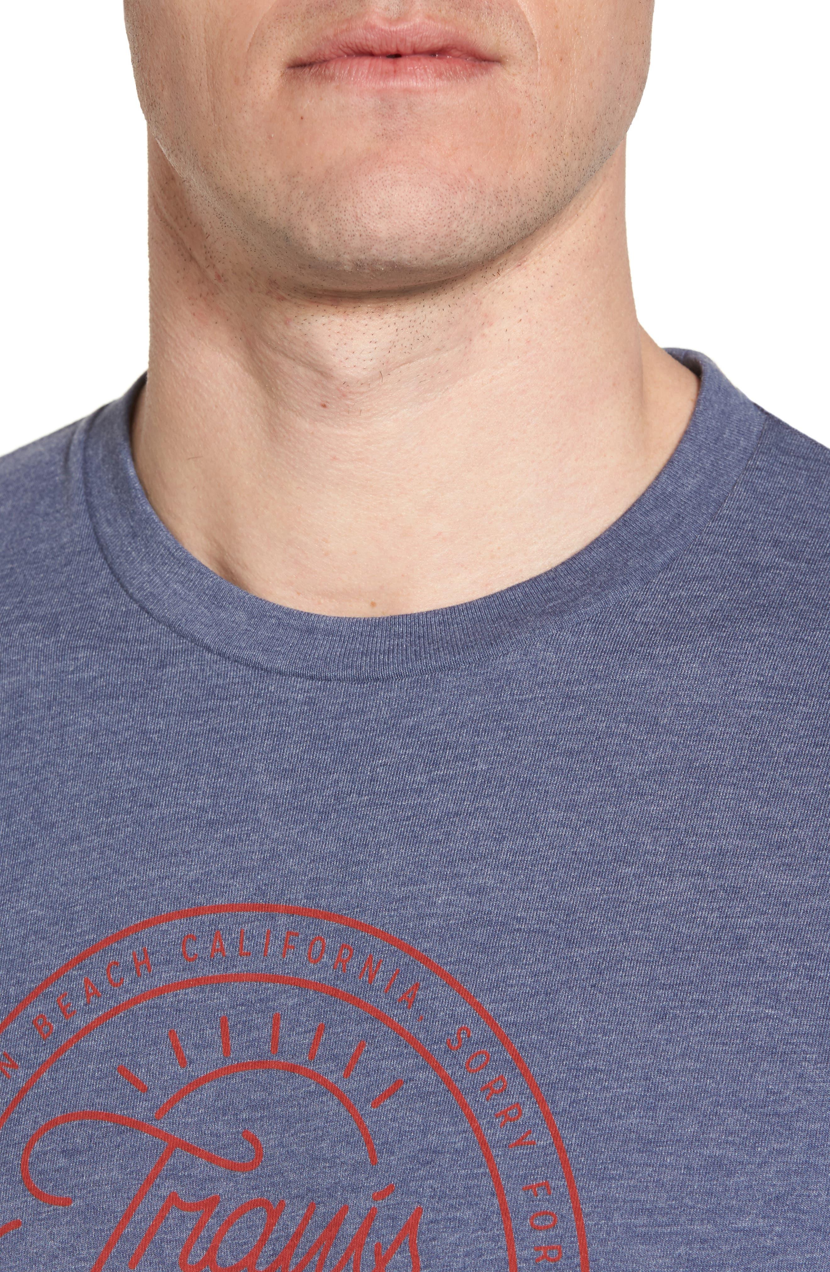 Drebo Graphic T-Shirt,                             Alternate thumbnail 4, color,                             Heather Blue Nights