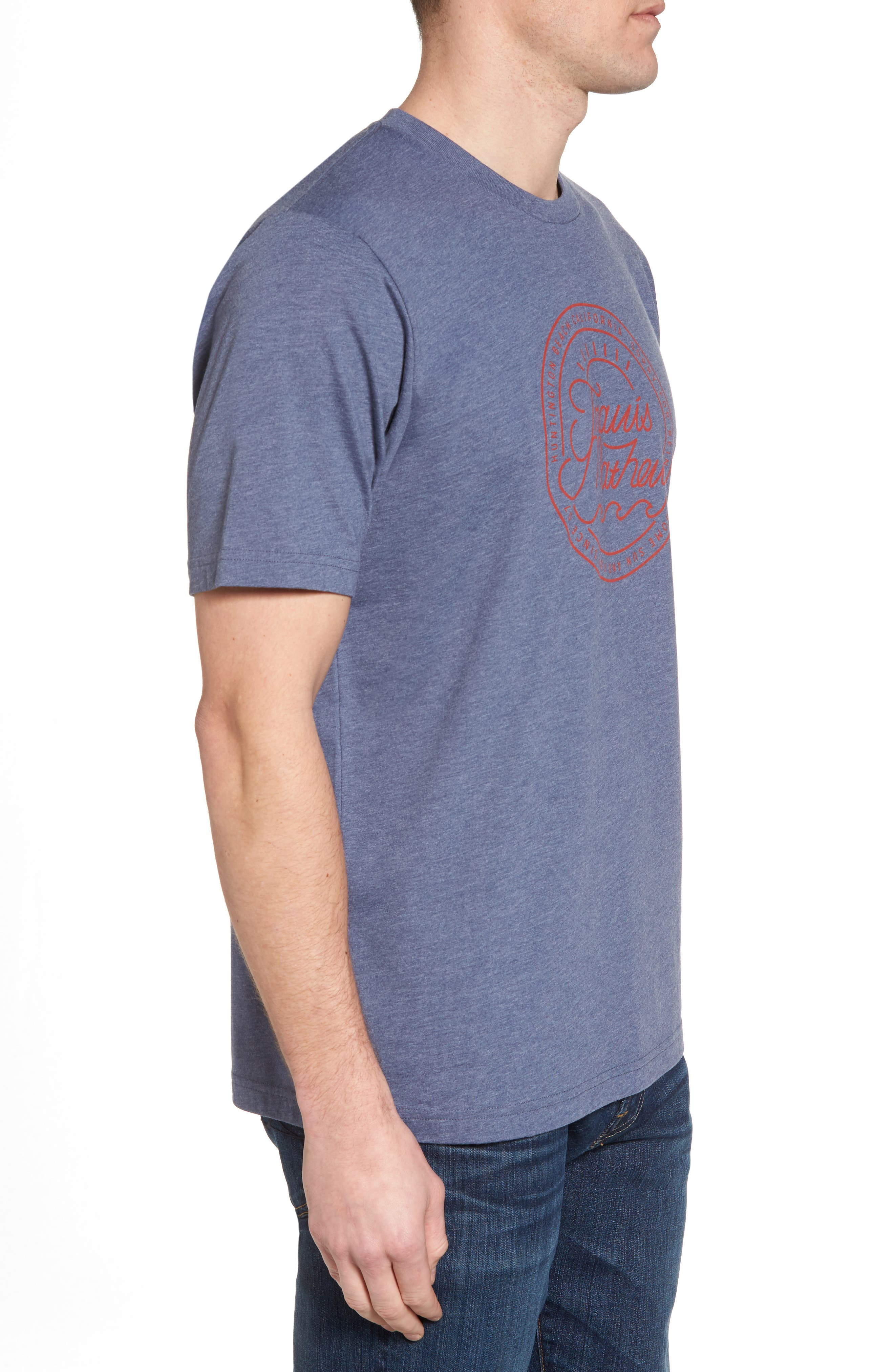 Drebo Graphic T-Shirt,                             Alternate thumbnail 3, color,                             Heather Blue Nights