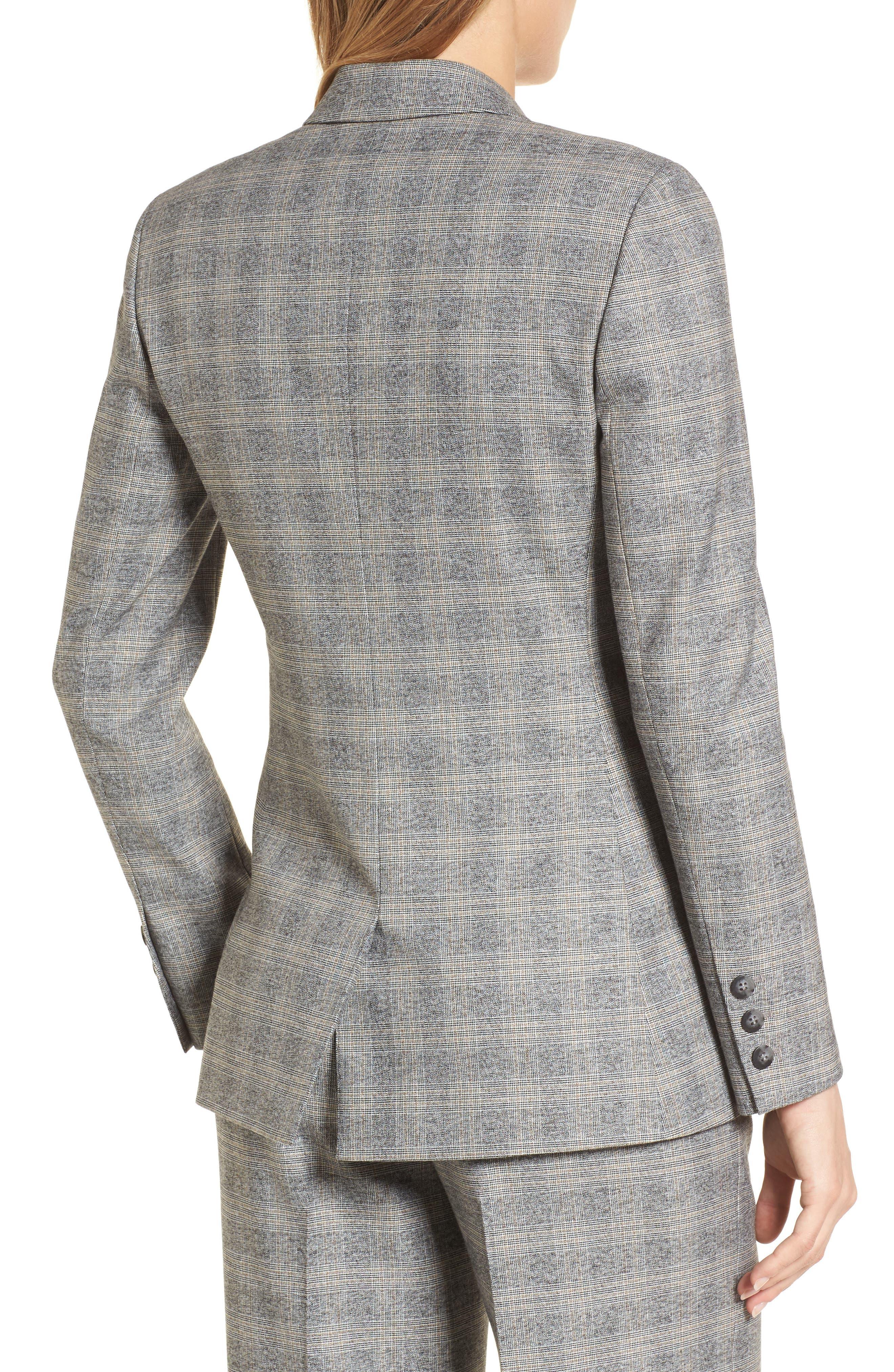 Check Plaid Suit Jacket,                             Alternate thumbnail 2, color,                             Grey Check