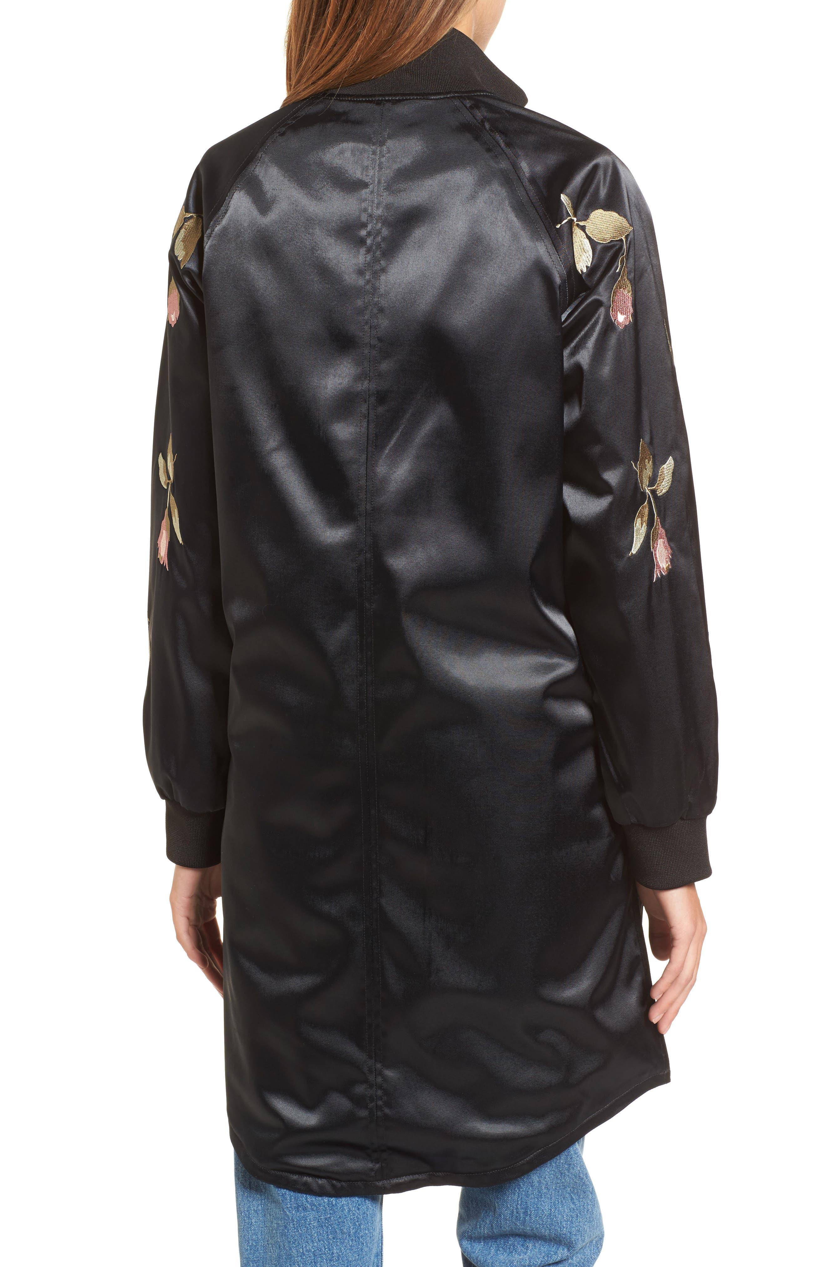 Embroidered Jacket,                             Alternate thumbnail 3, color,                             Black