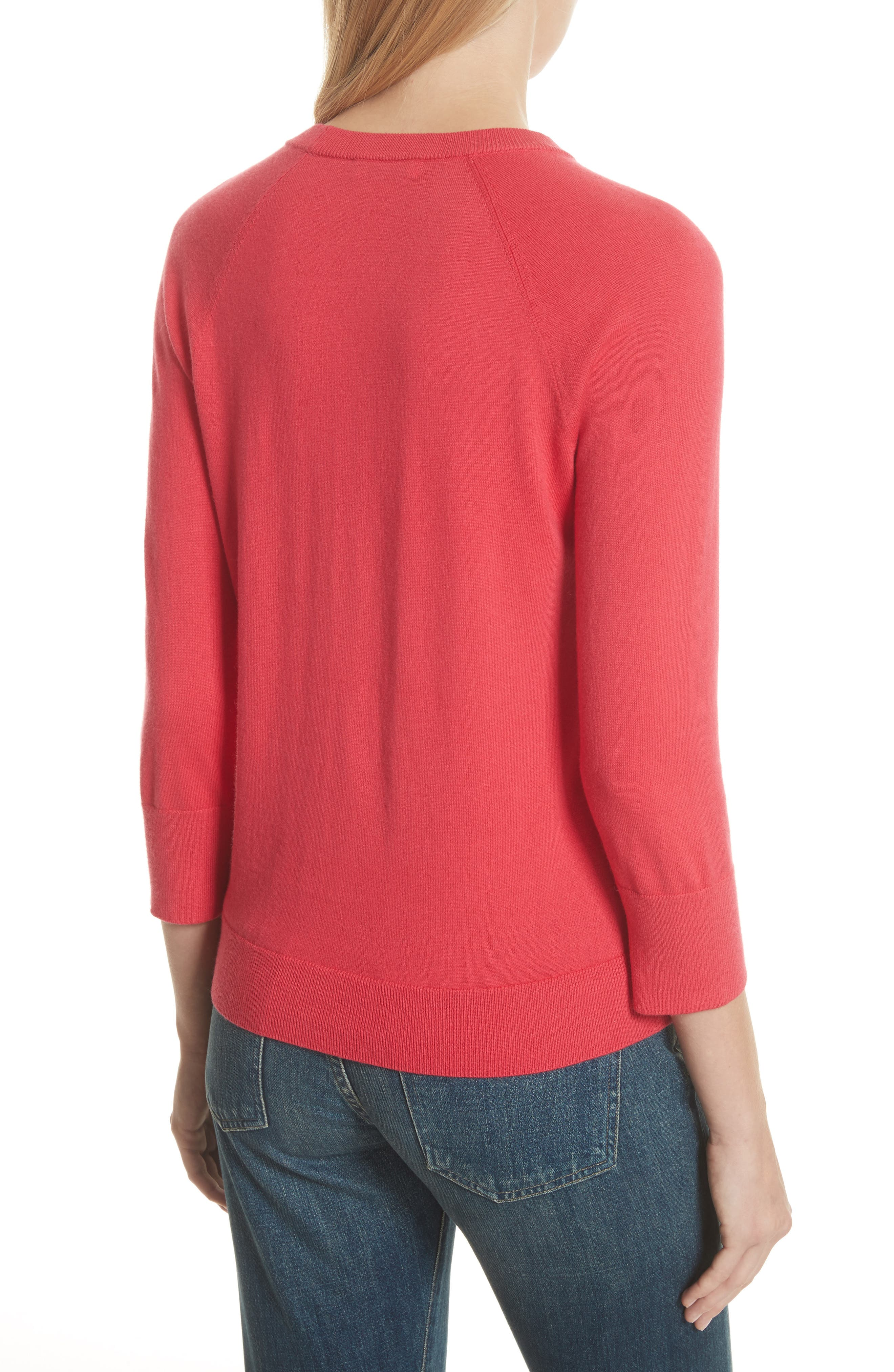 Cotton & Cashmere Sweater,                             Alternate thumbnail 2, color,                             Charged Pink